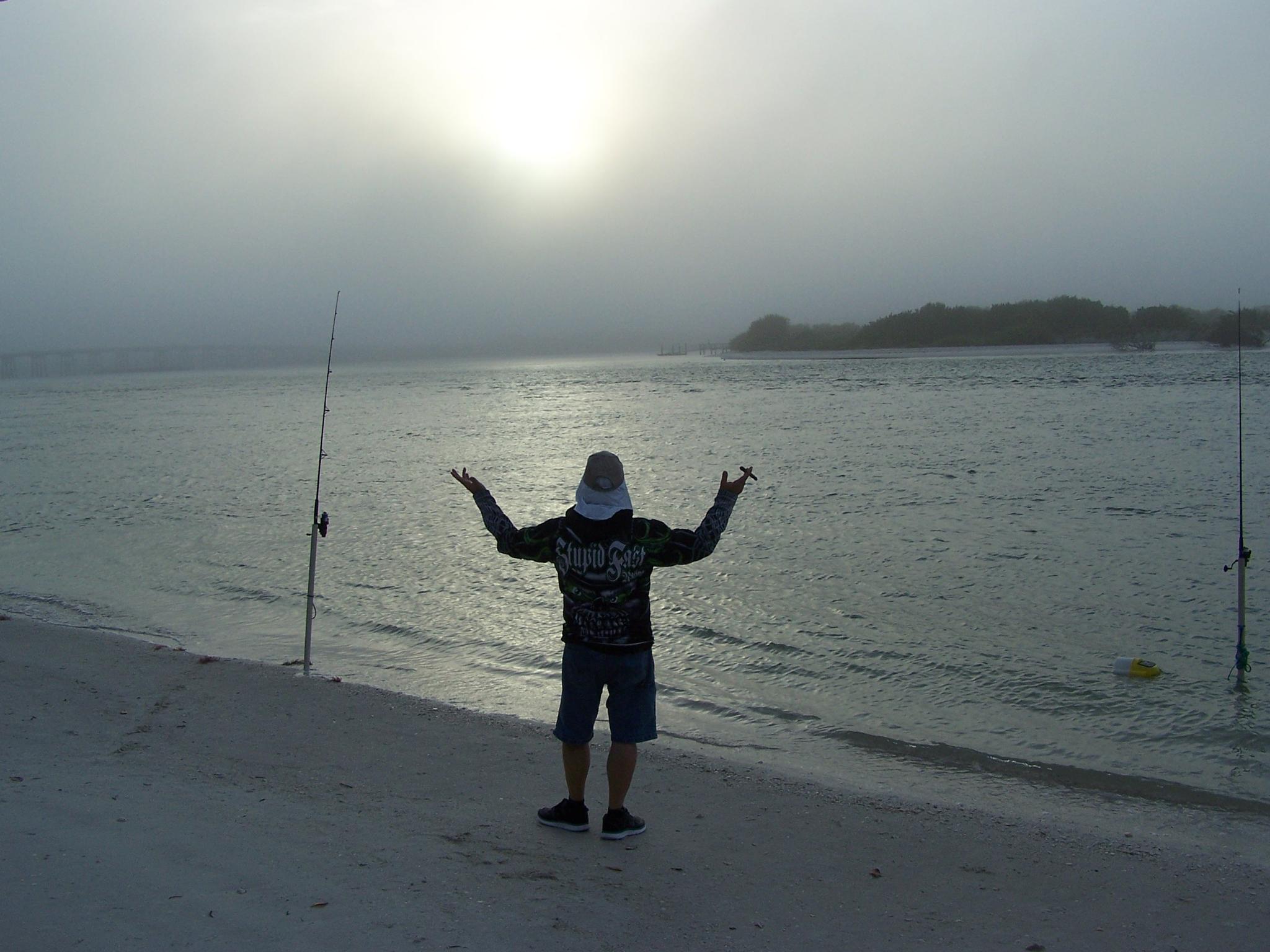 Photo in People #fog #snapper king #sun #lovers key #florida