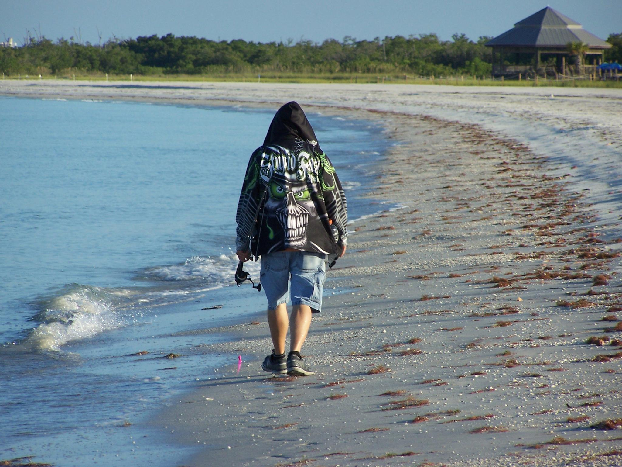 Photo in People #fisherman #walk #state park #florida #united states #lovers key