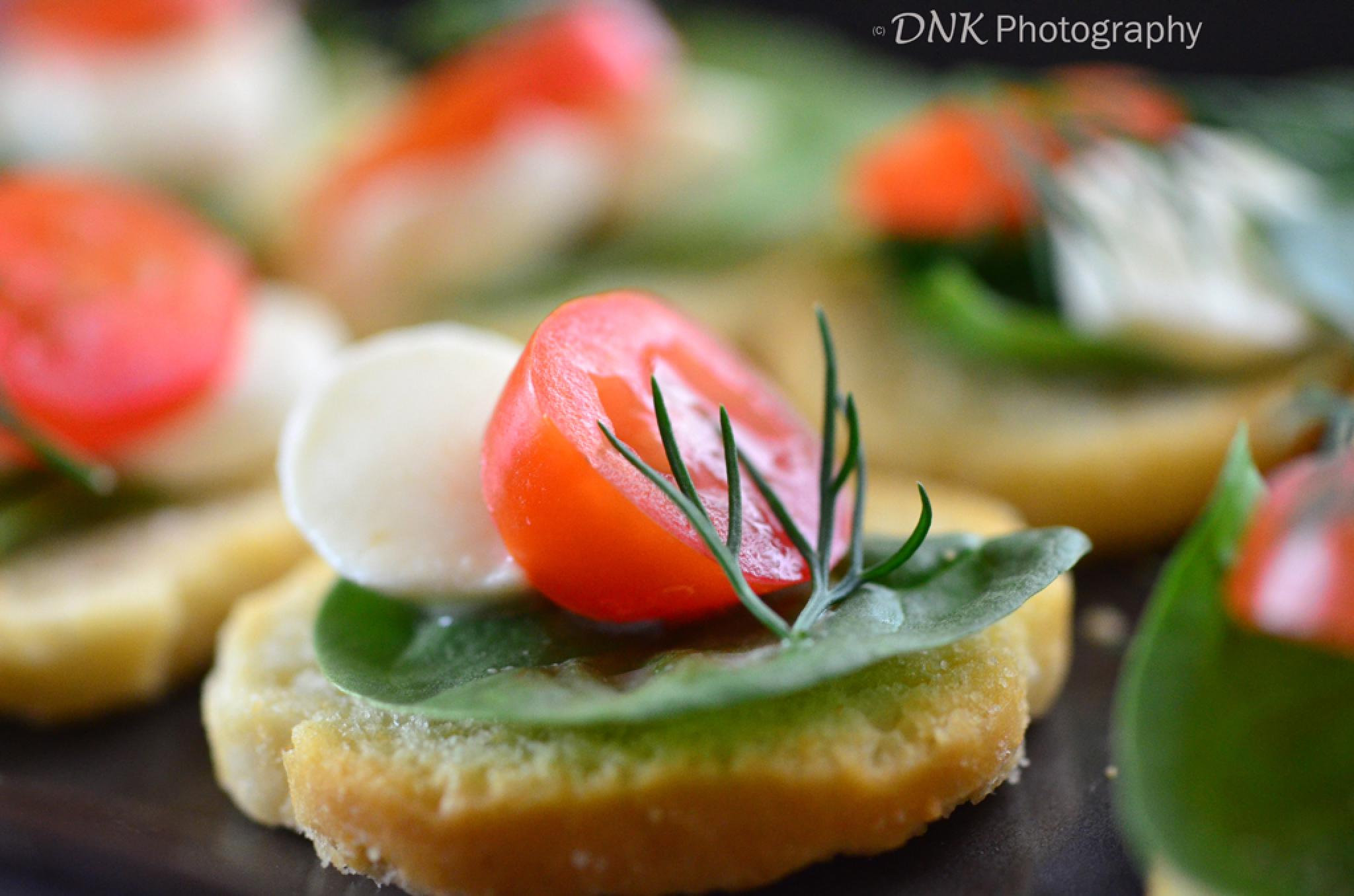 Bruschetta with Boccochini and tomato  by Passionate.Food.Photography
