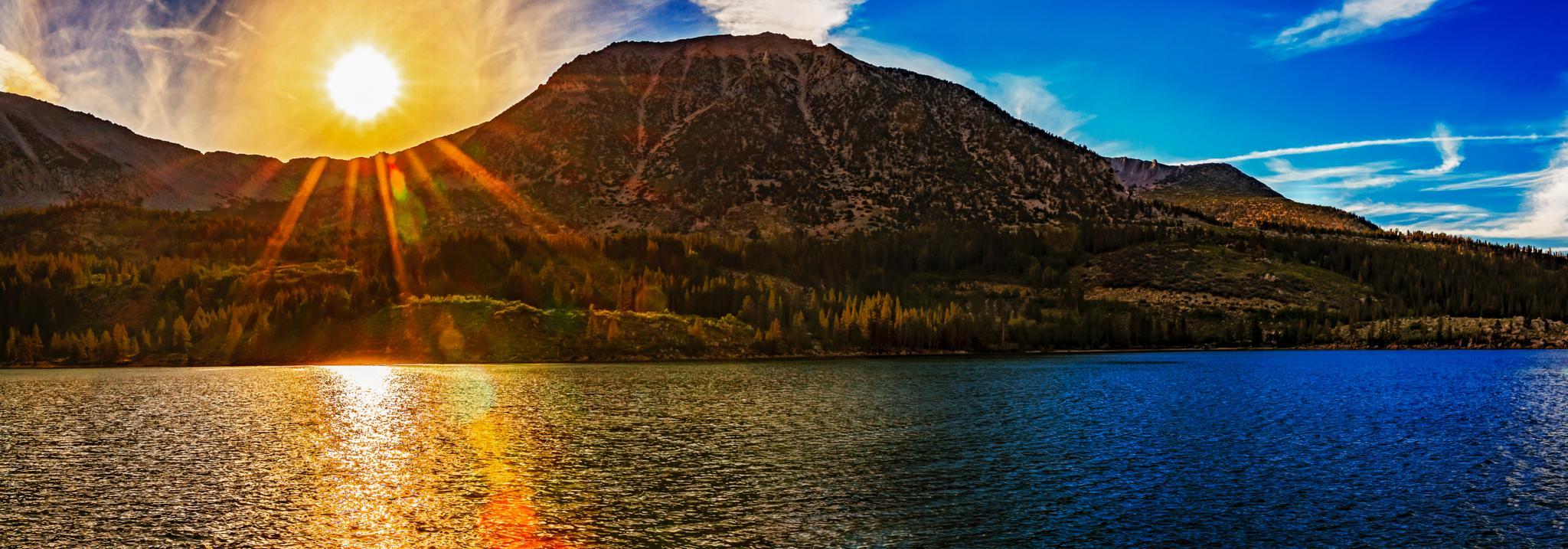 rock creek lake sunset by hugh.mobley.946