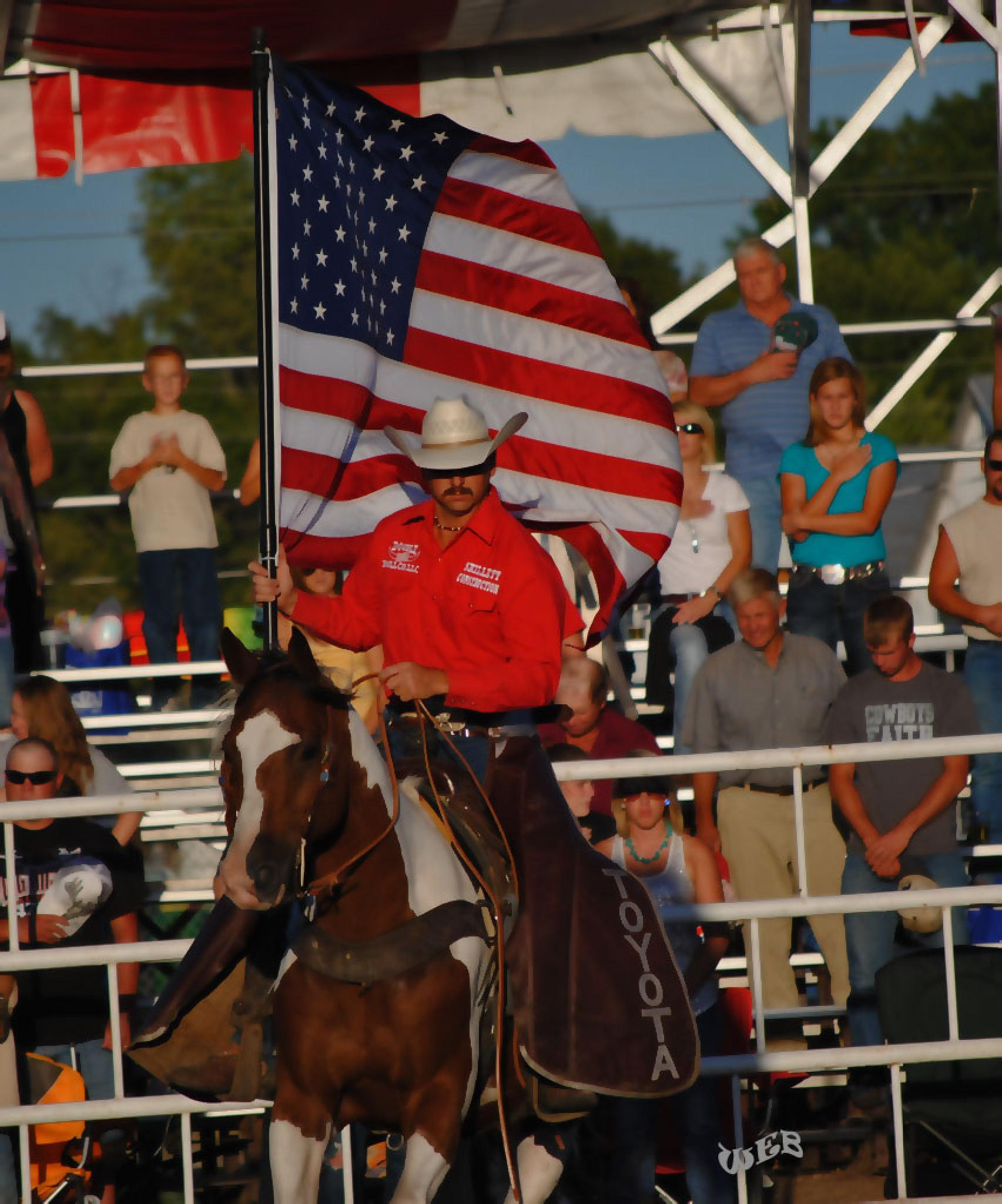 PRESENTING THE USA FLAG COWBOY STYLE by WEB426