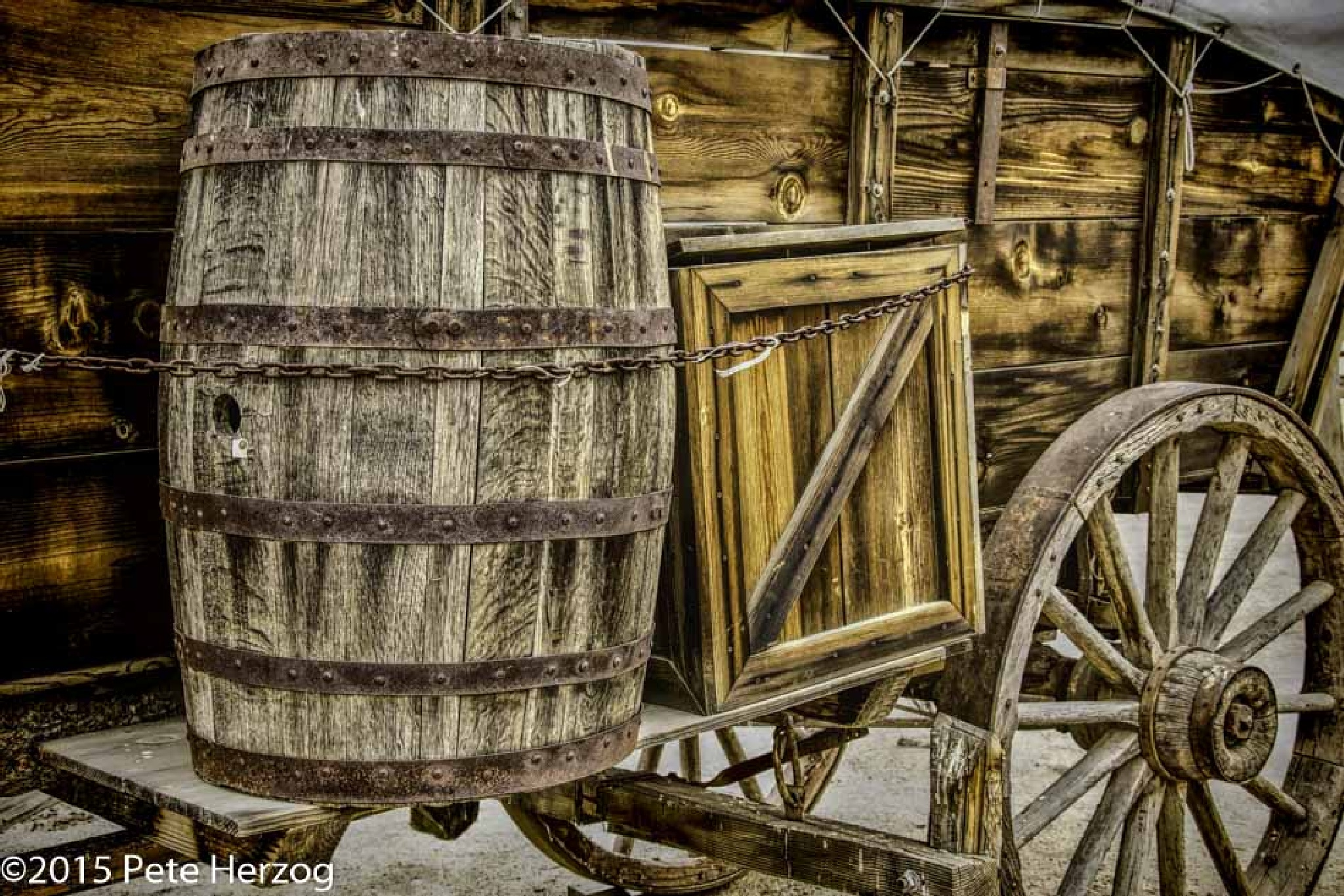 Barrel on Covered Wagon by peter.herzog.3323