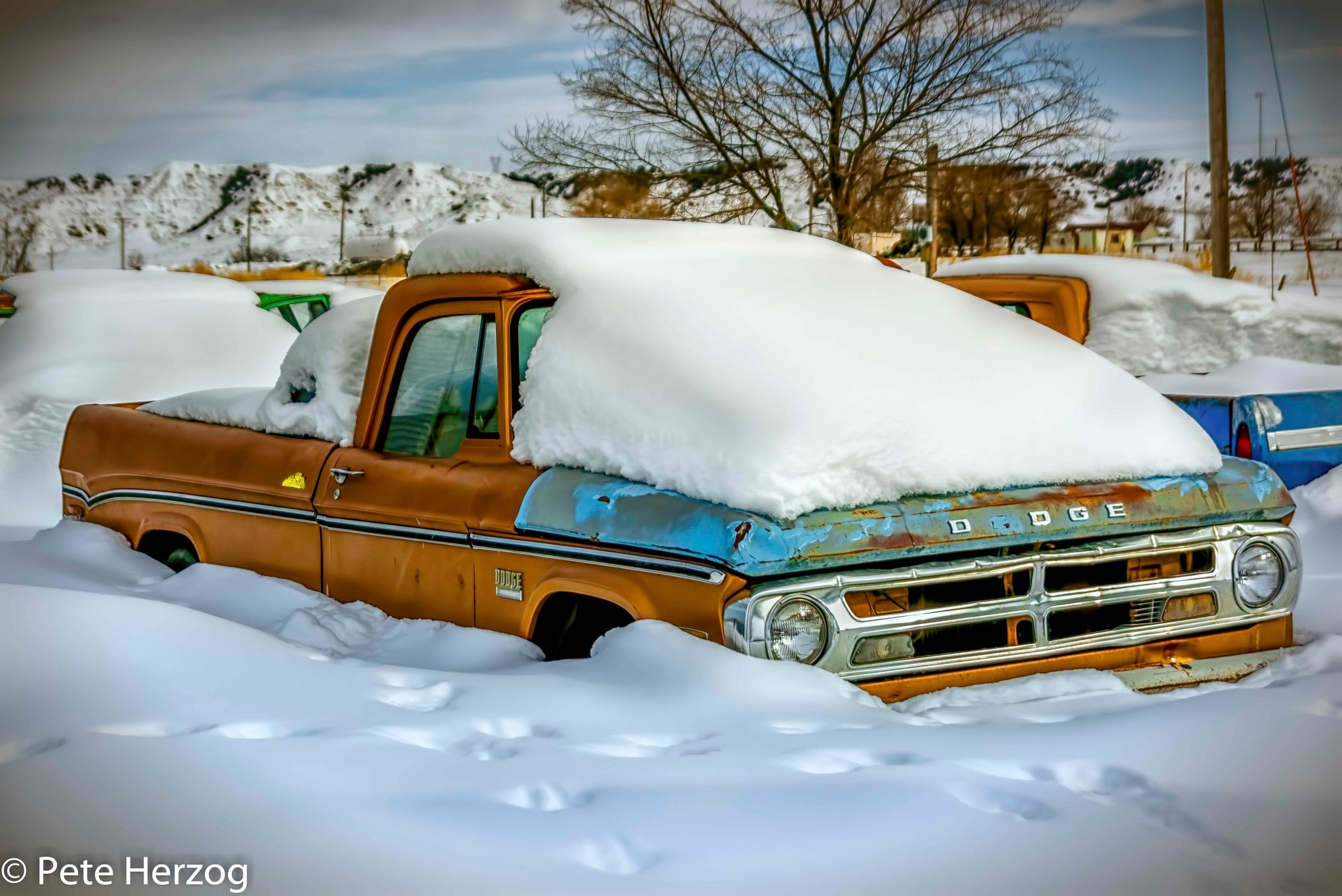 Dodge Covered in Snow by peter.herzog.3323