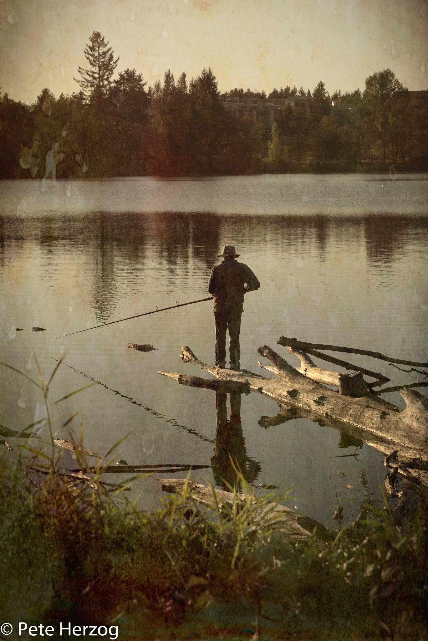 Fisherman at Dusk by peter.herzog.3323
