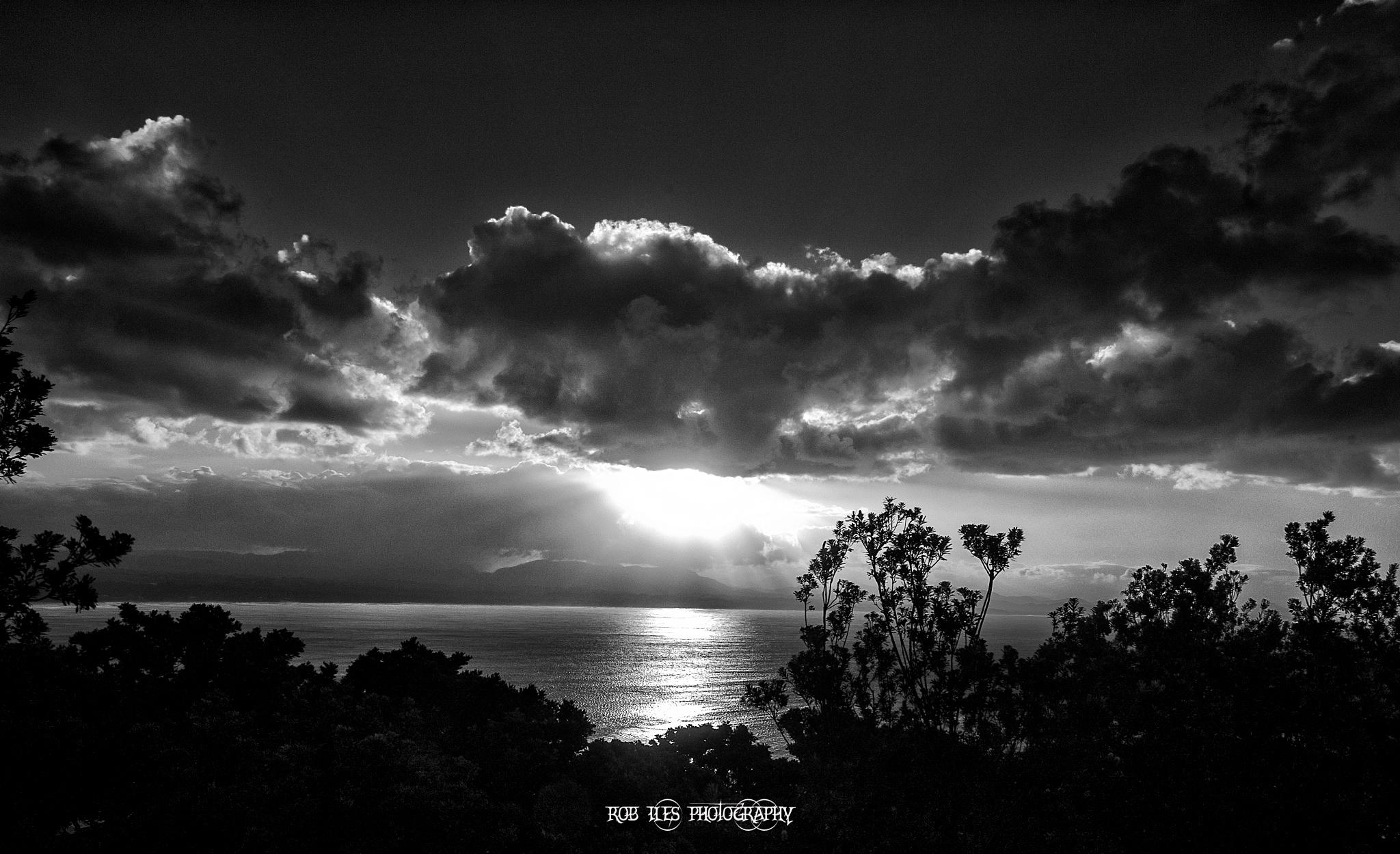 Byron Bay Sunset Mono by rob.iles.98