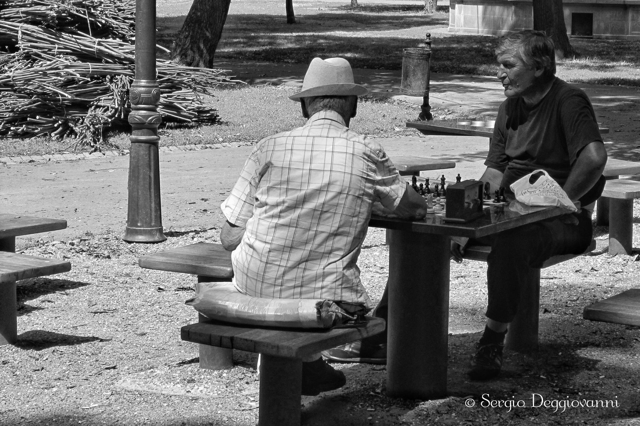 Chess game in the park by Sergio Deggiovanni