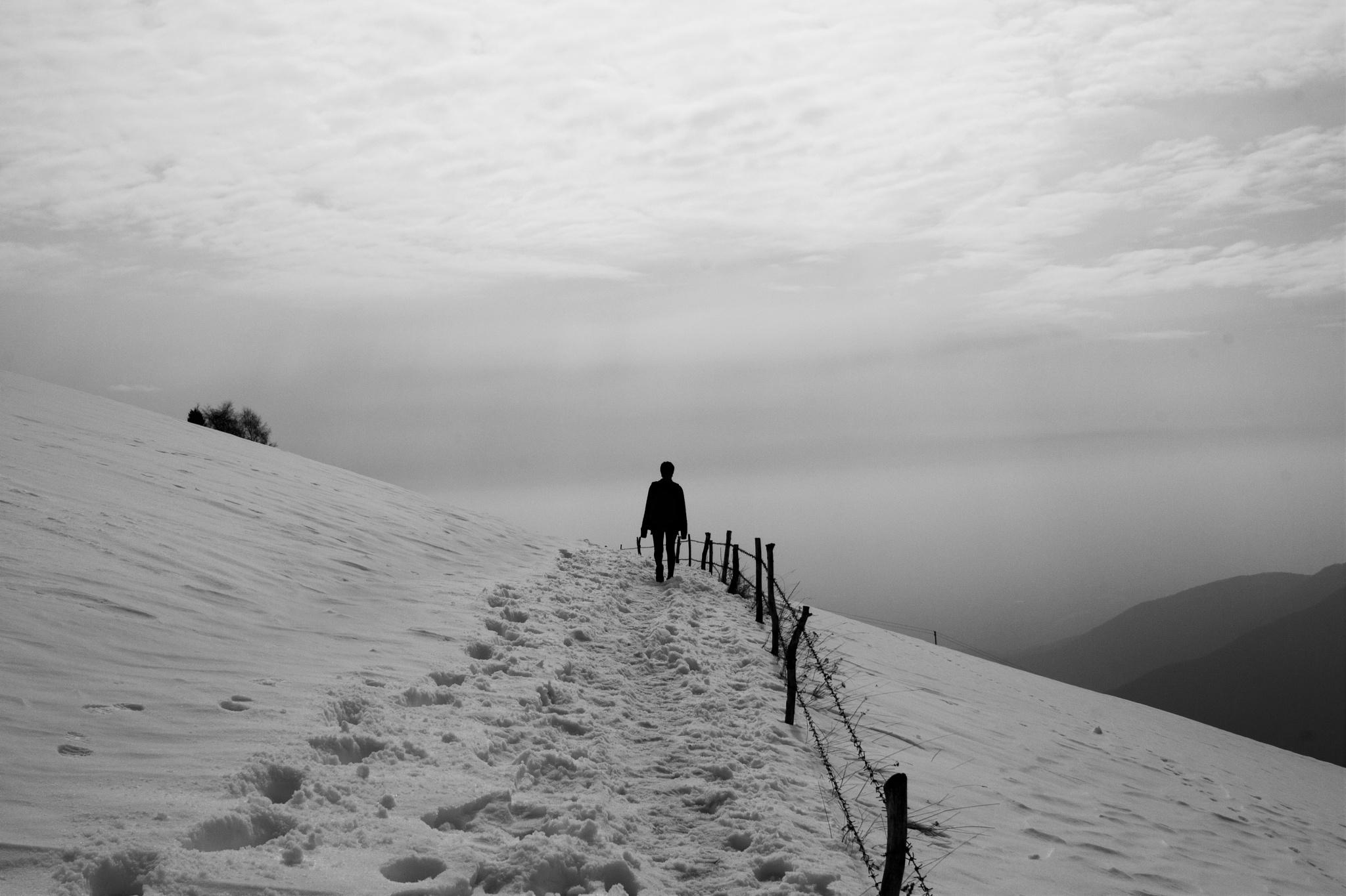 on the snow by Chiara Darù