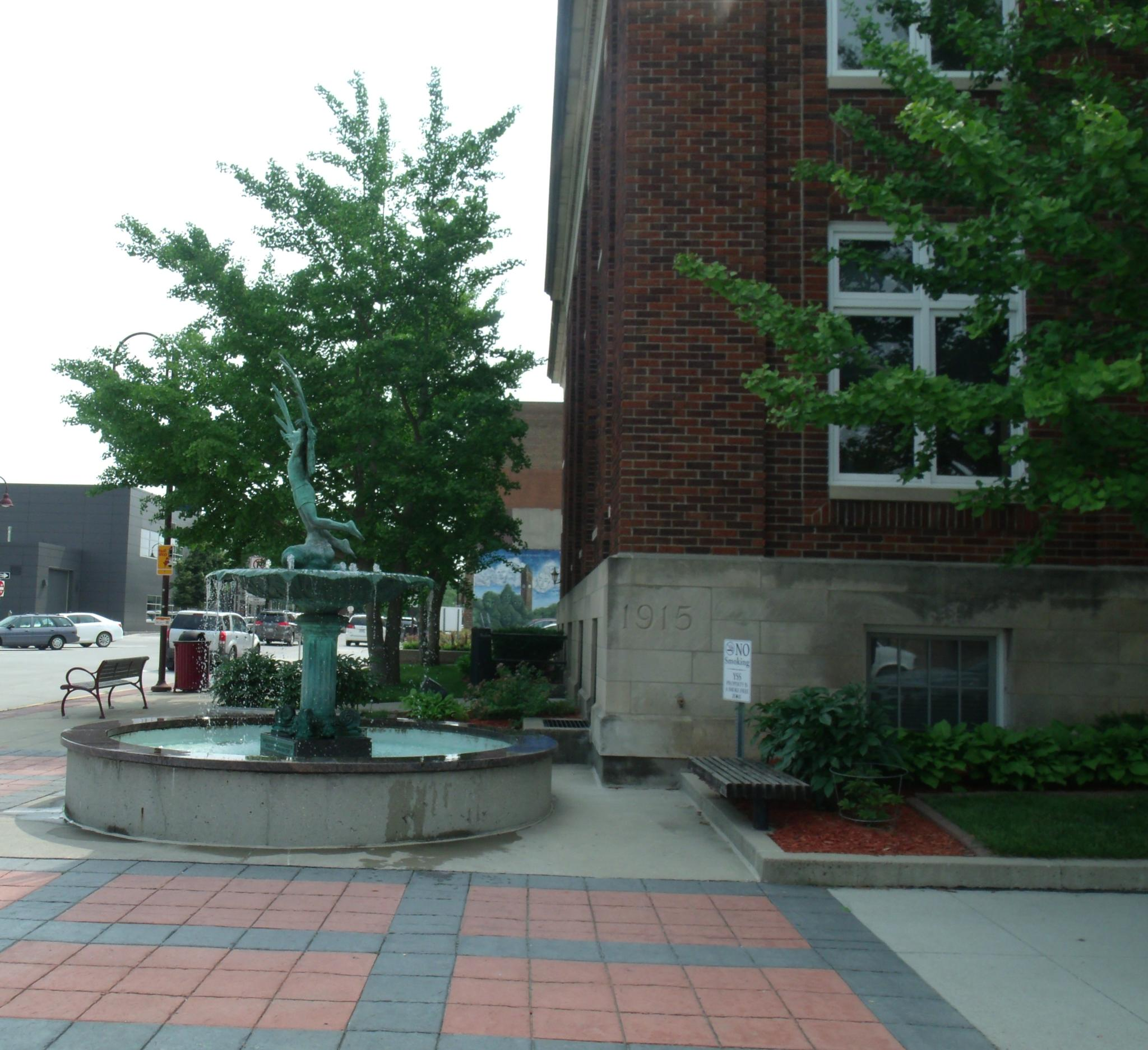 Main Street Fountain by Pamela Reese