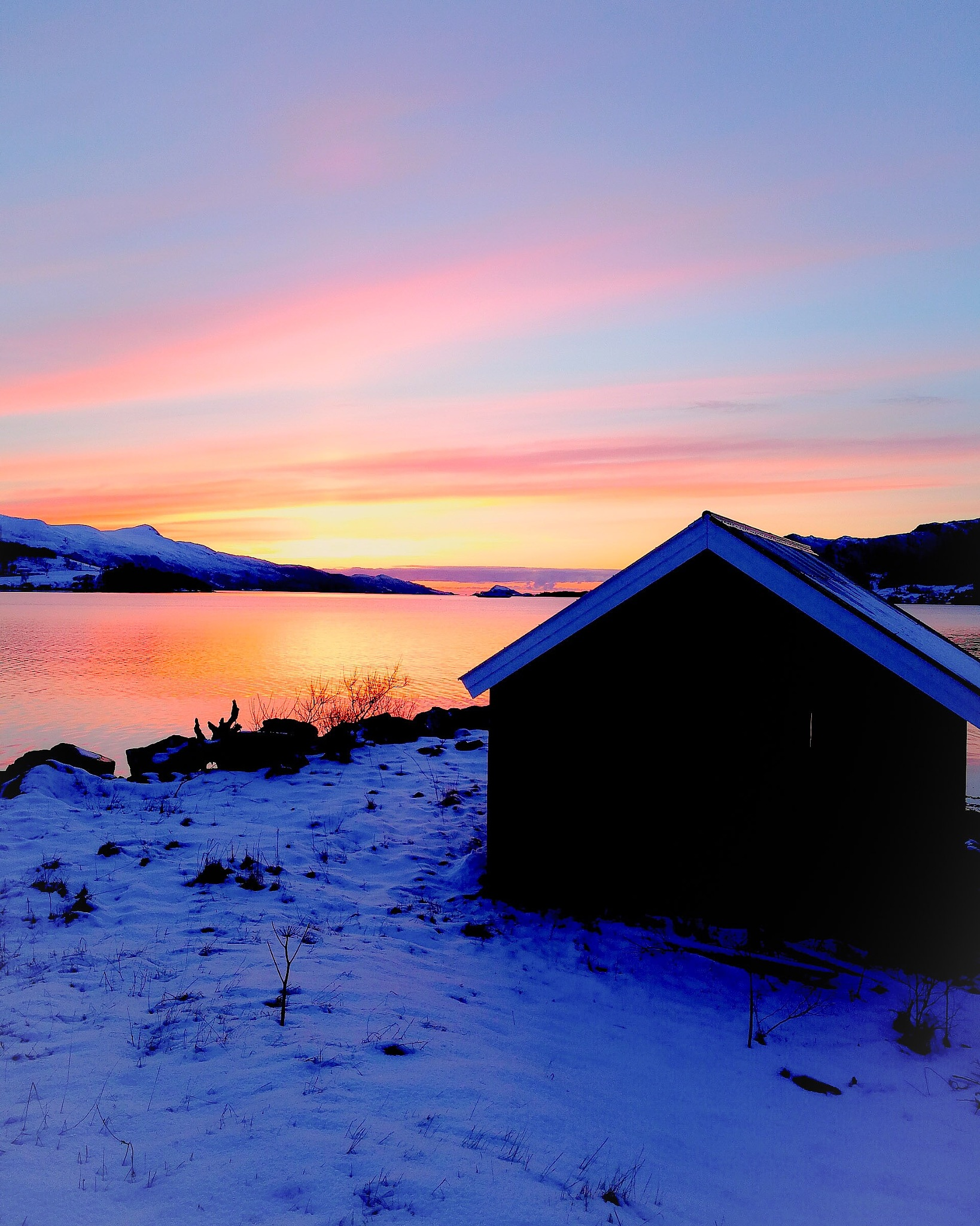 Sunset in march  by Anne Grethe Eikrem