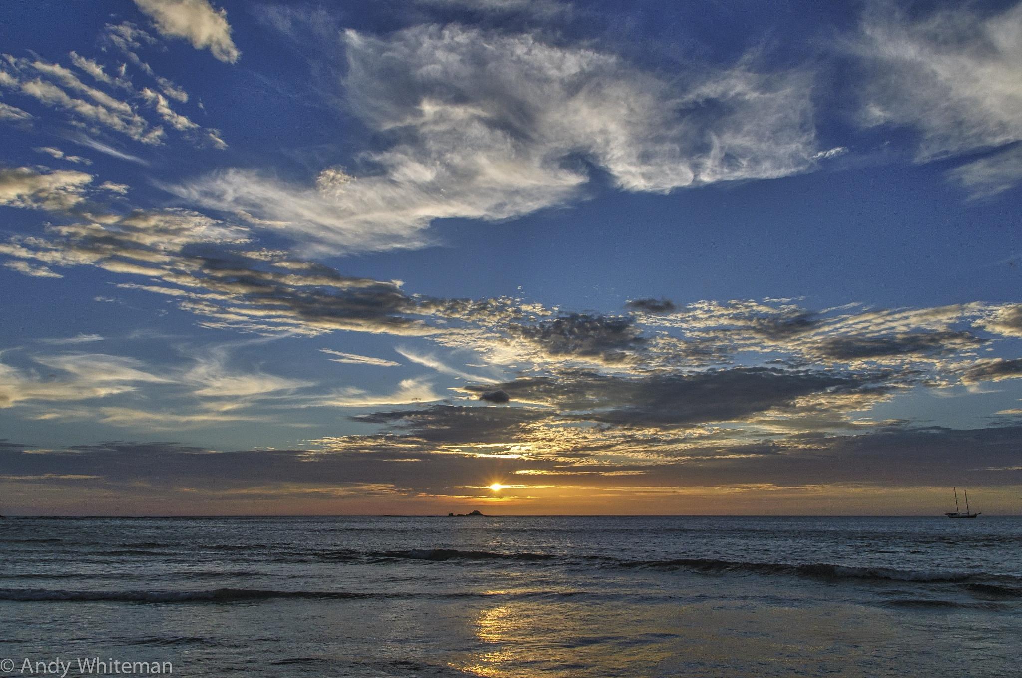 Sunset Tamarindo Bay by Smilin' Dog