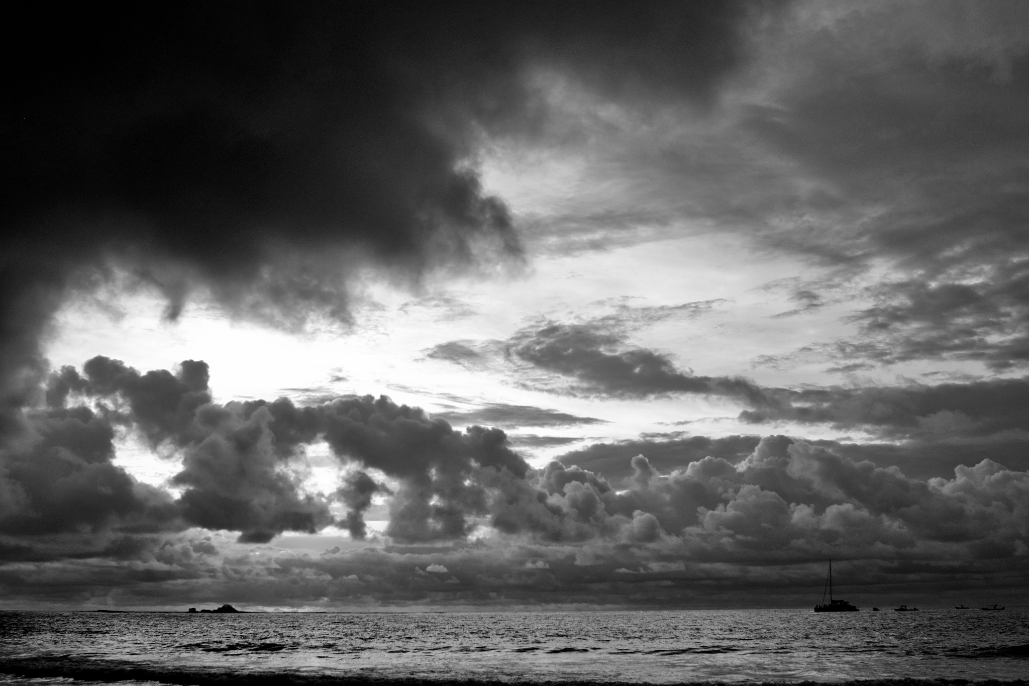 Photo in Landscape #tamarindo bay #before the storm #clouds #sea #boats #atmosphere