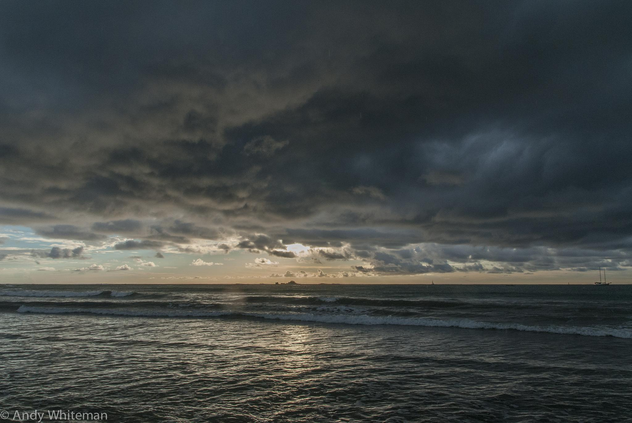 Sunset No2 - the rain arrives by Smilin' Dog