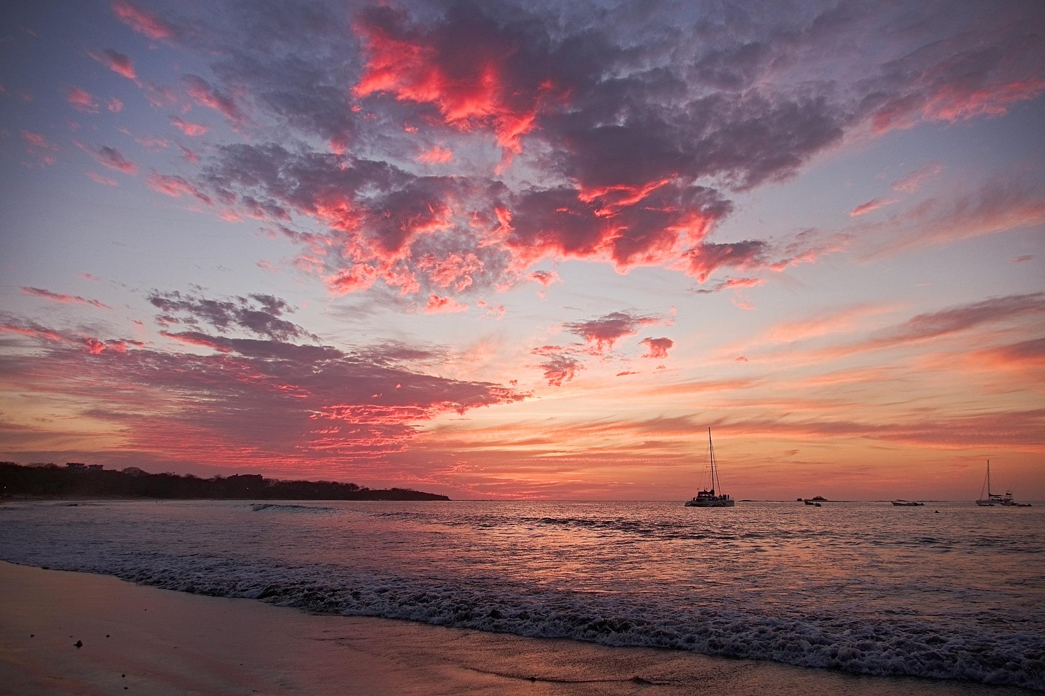 Photo in Landscape #sunset #playa tamarinod #light #colours #clouds #ocean