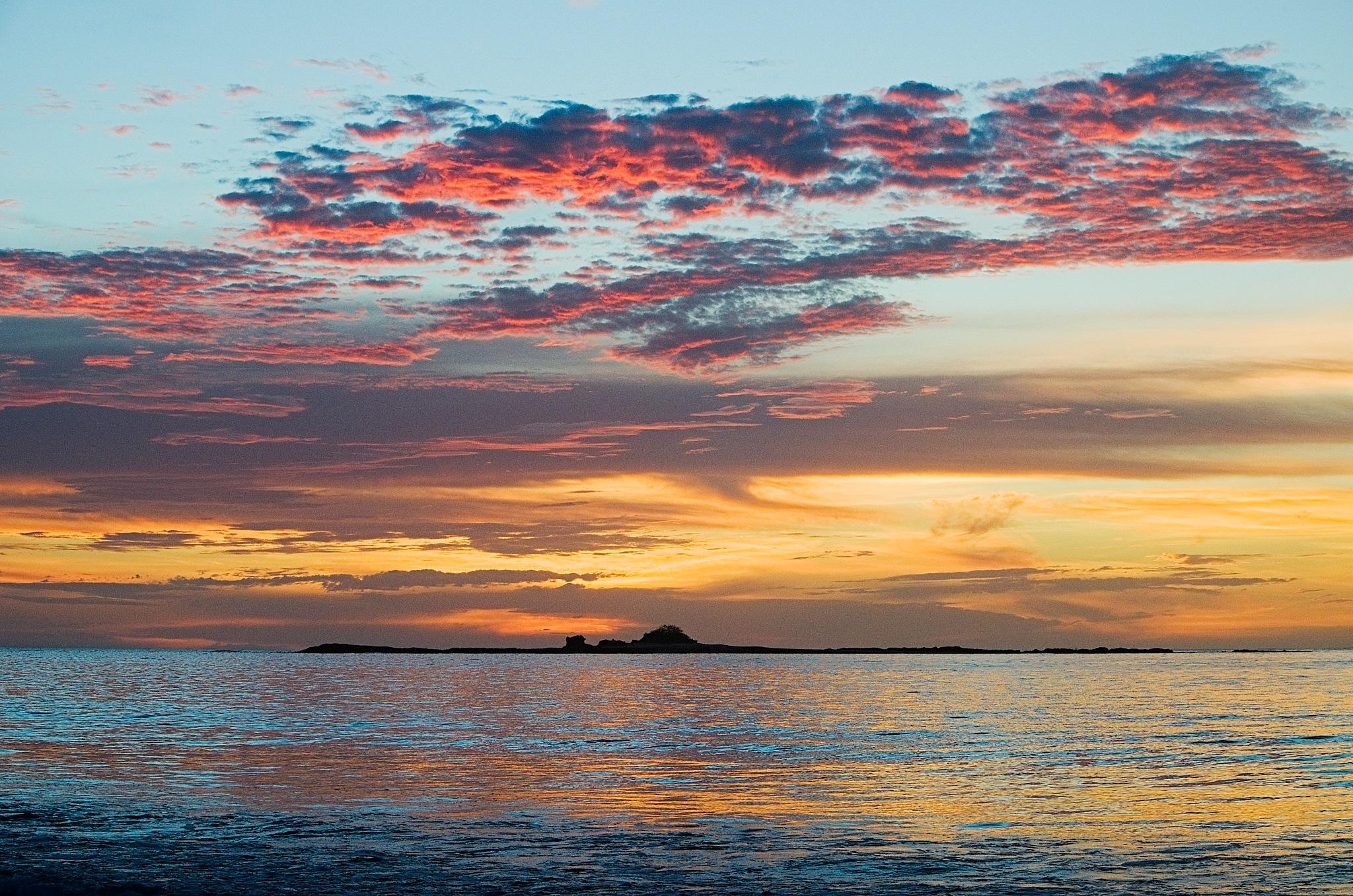 Sunset Pink, Red & Orange Sky by Smilin' Dog