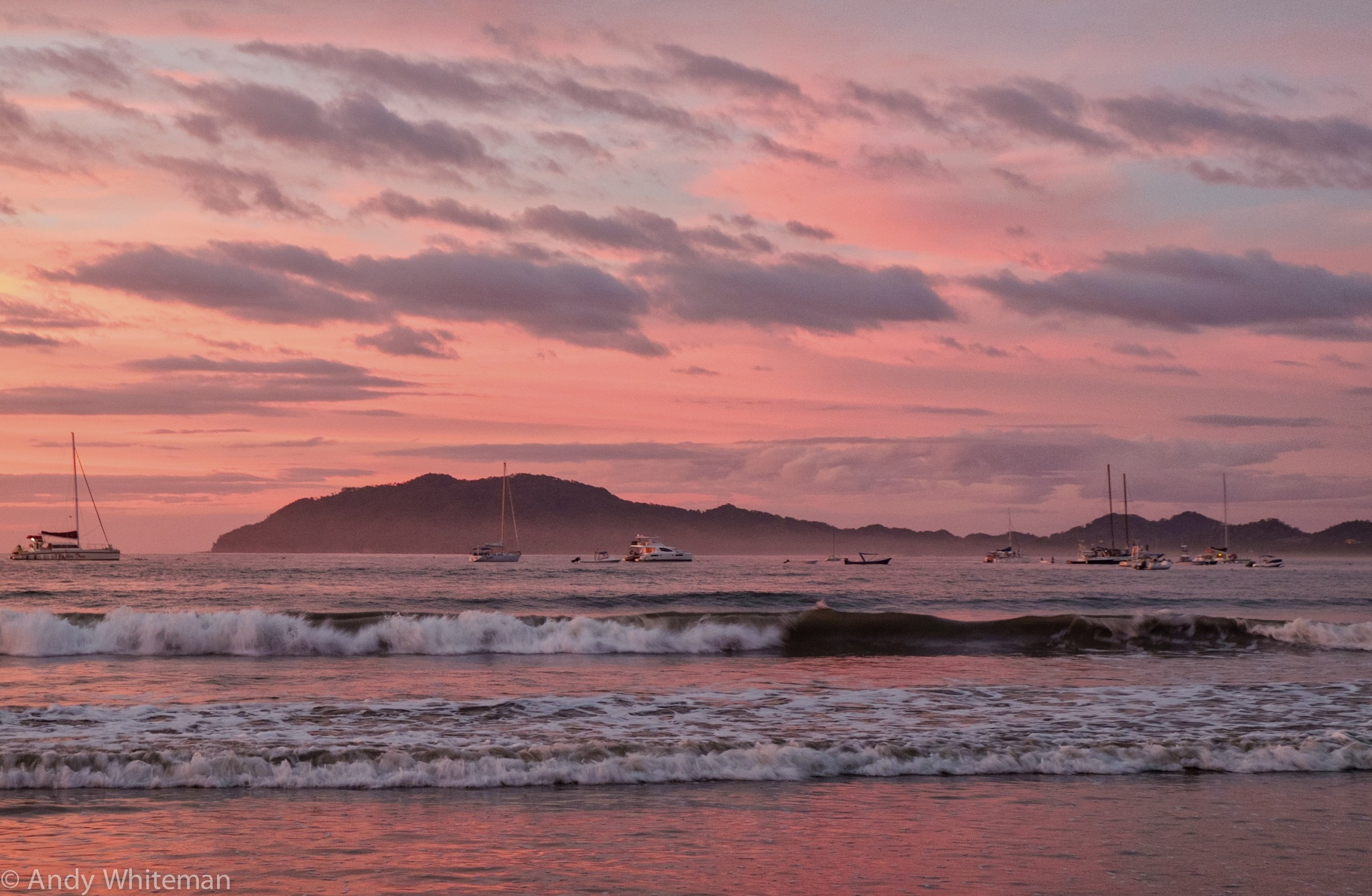 """""""It's another Tamarindo Sunset """" Boats and Clouds 28/11/16 by Smilin' Dog"""