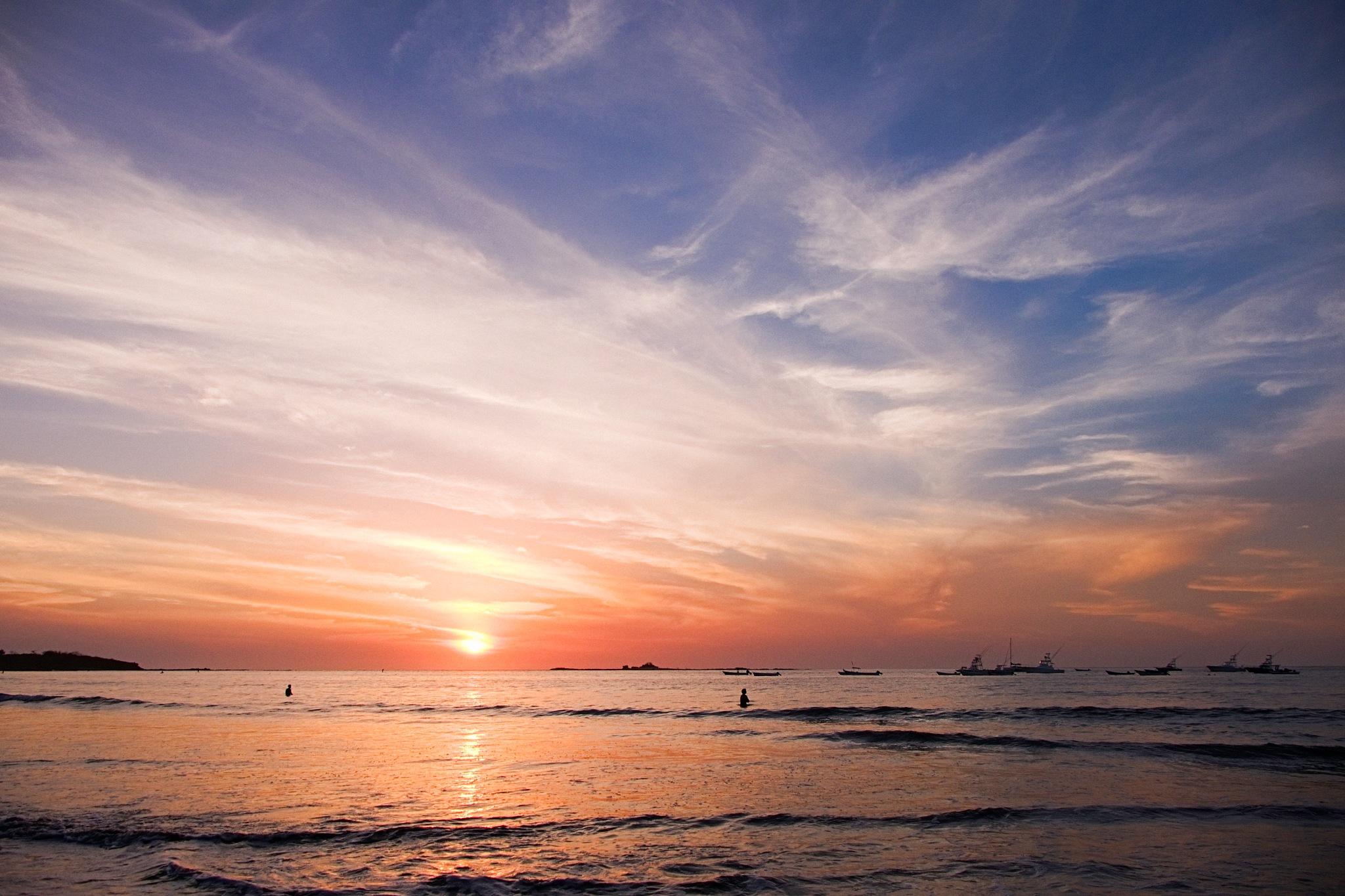 Sunset no. 1 Tamarindo Bay by Smilin' Dog