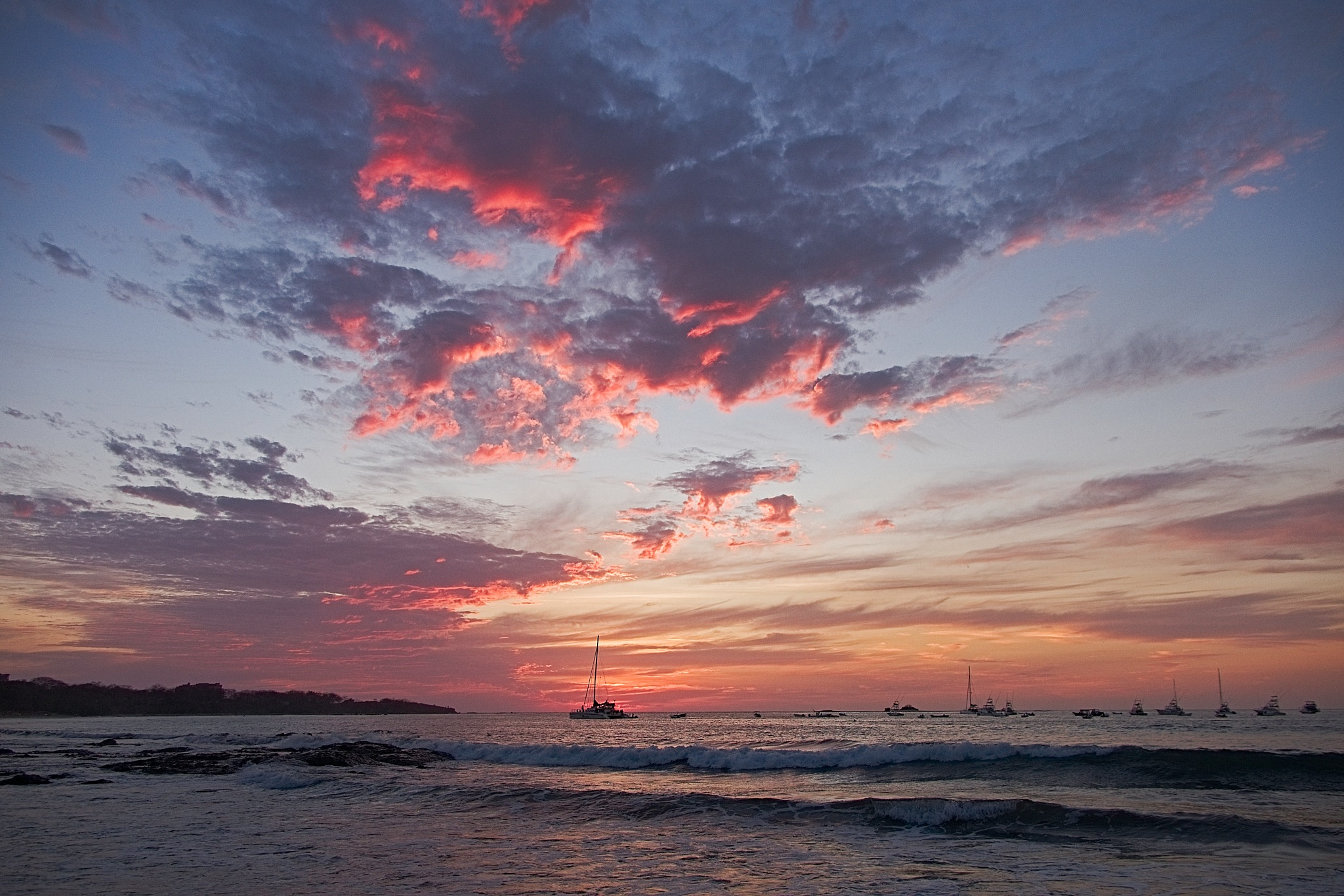 Photo in Landscape #sunset #playa tamarindo #colours #clouds #ocean