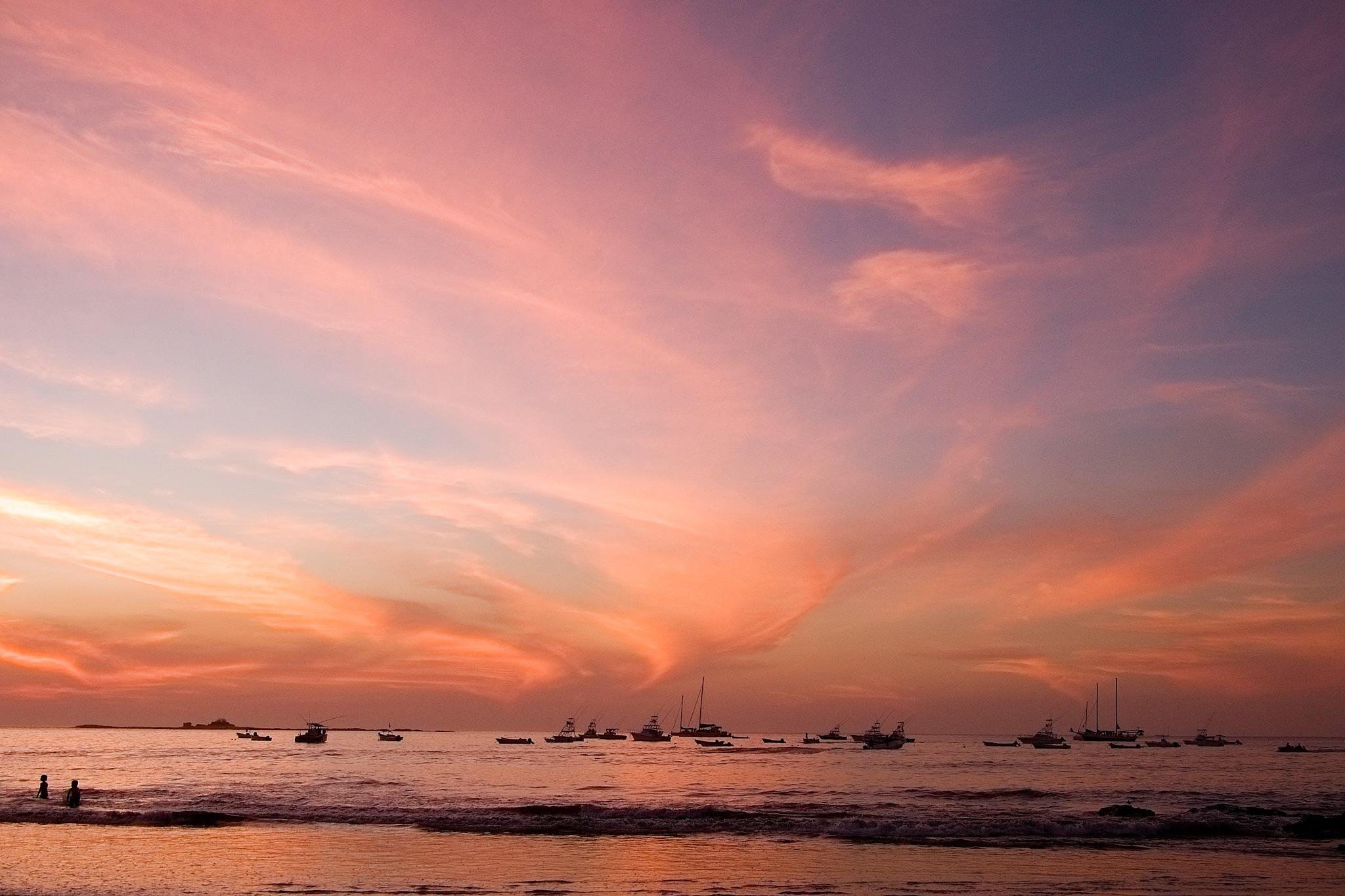 Sunset no. 3 Tamarindo Bay by Smilin' Dog