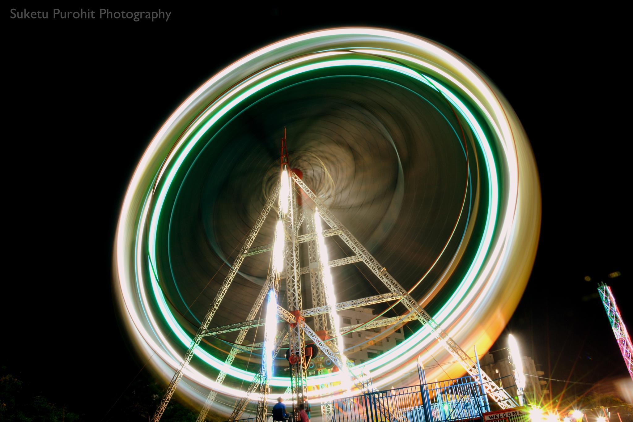 Merry-go-round & Nightscape by Suketu Purohit