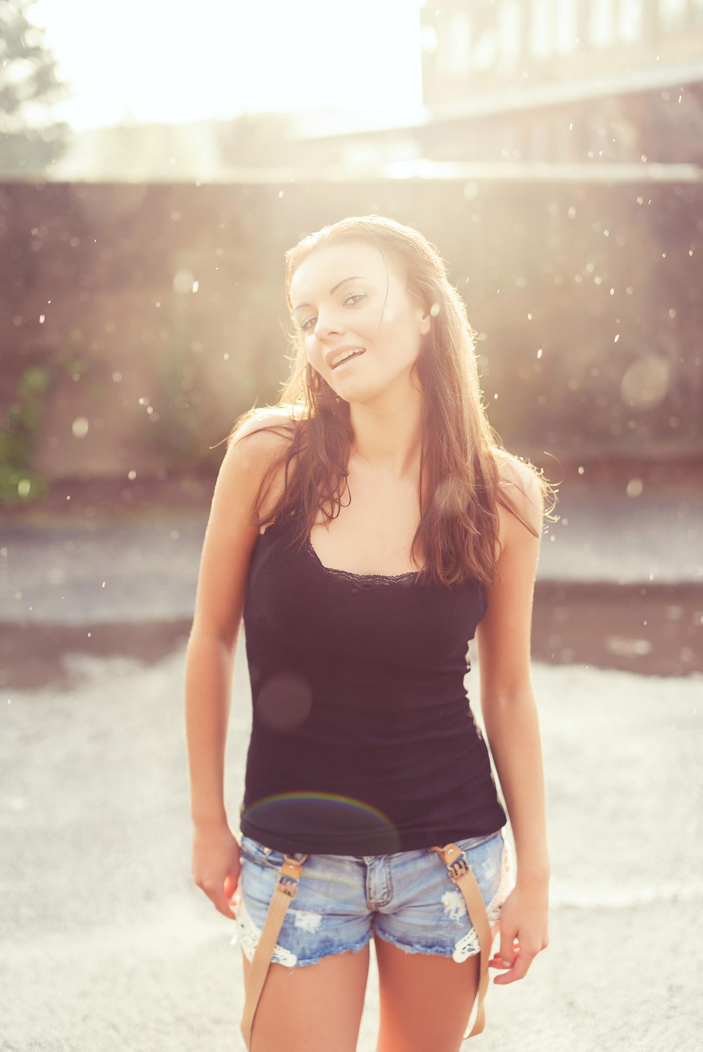 Klaudia in the sun & rain by Marian Pentek - Digihelion