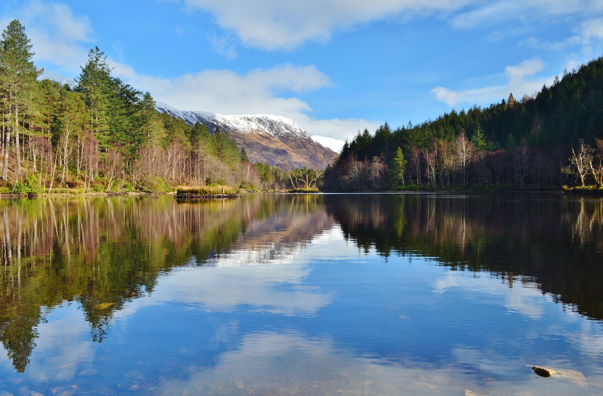 Reflections on Glencoe Lochan by garybr66