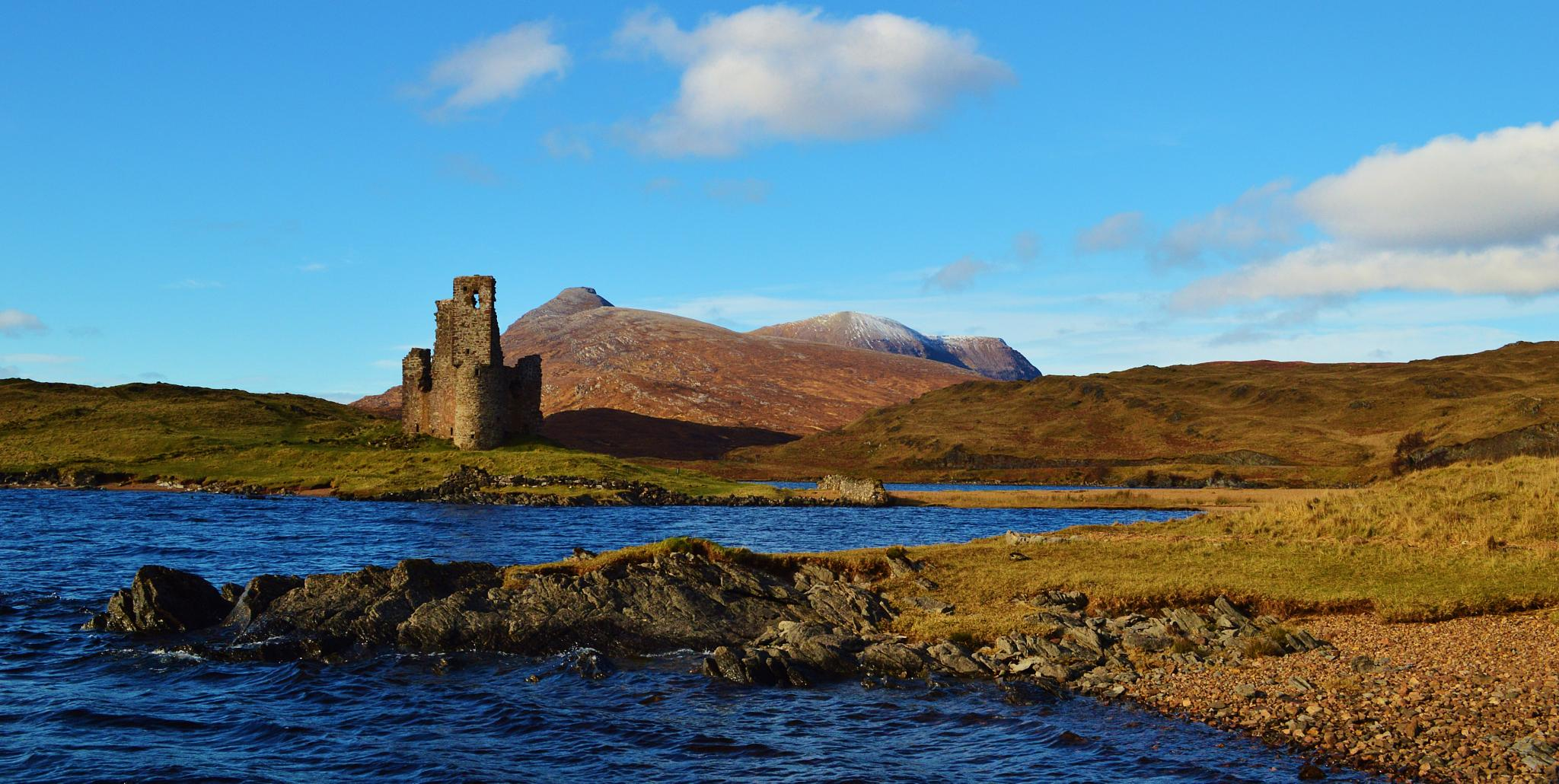 Photo in Landscape #ardvreck castle #loch assynt #sutherland #scotland