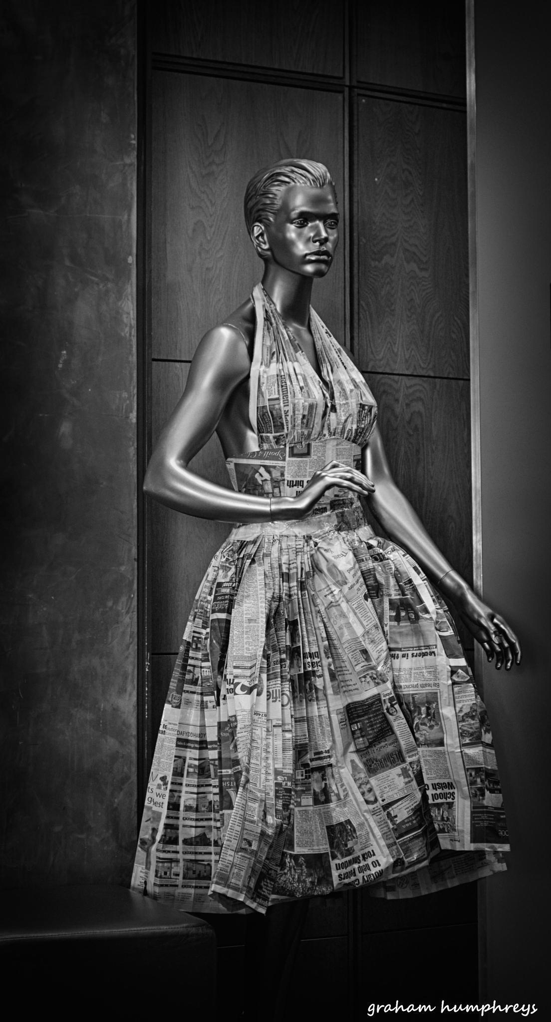 Photo in Fashion #dress #paper dress #newspaper