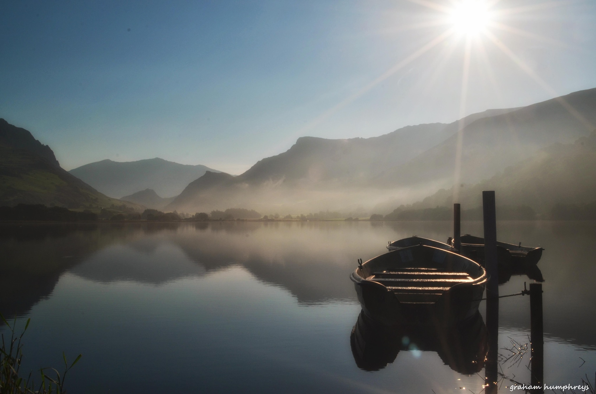Misty morning by graham humphreys