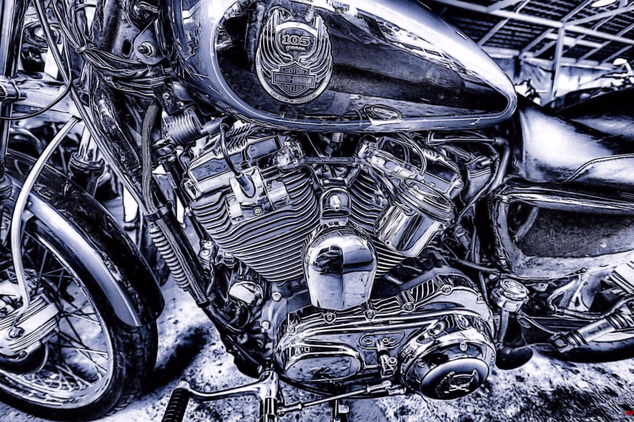 My old Harley  by Lloyd de Gruchy