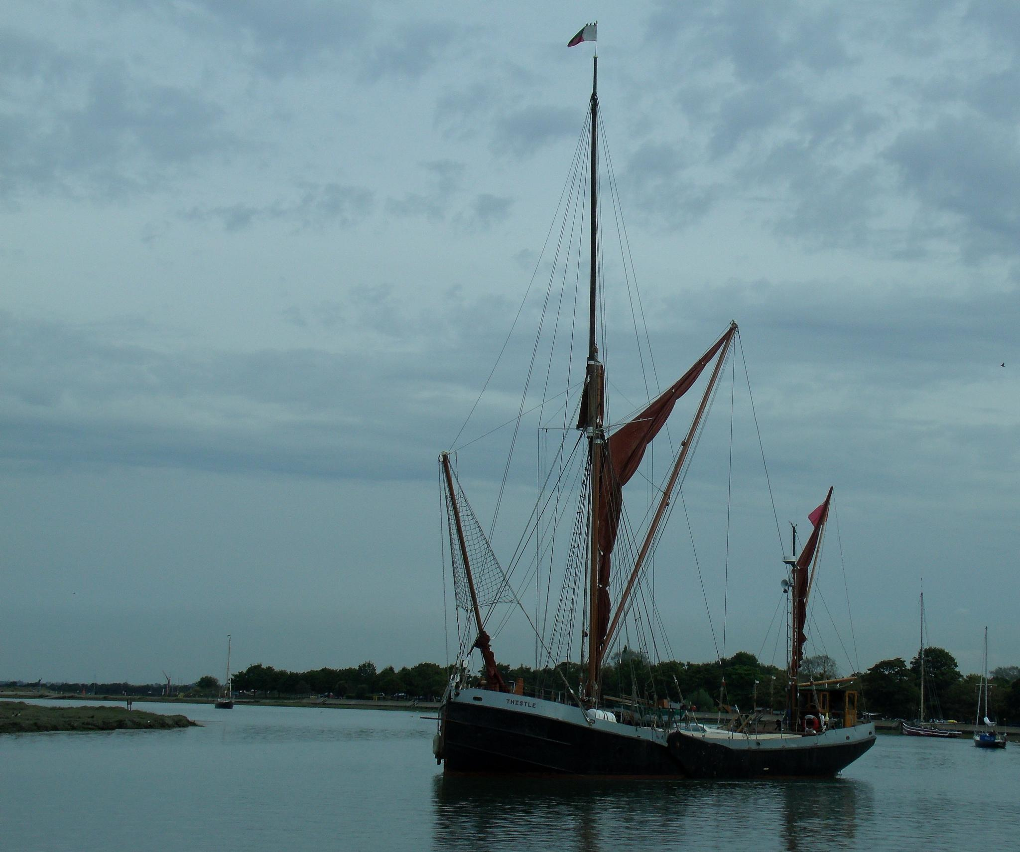 "The ""Thistle"" at Maldon quay by Chris Clark"