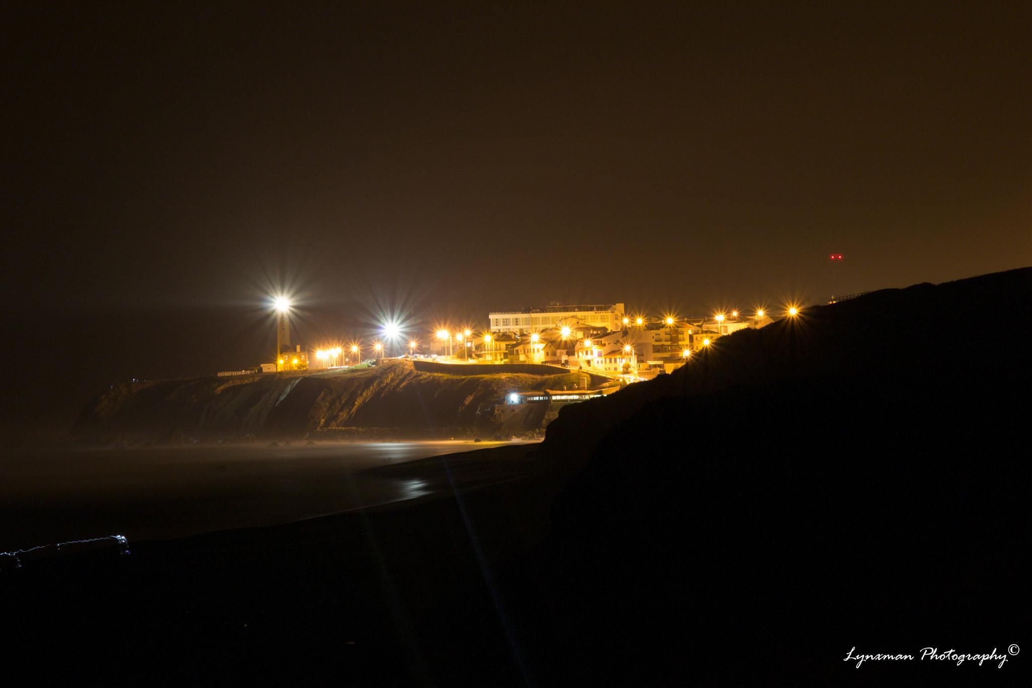 Beach of São Pedro de Moel at night by lynxmanphotography