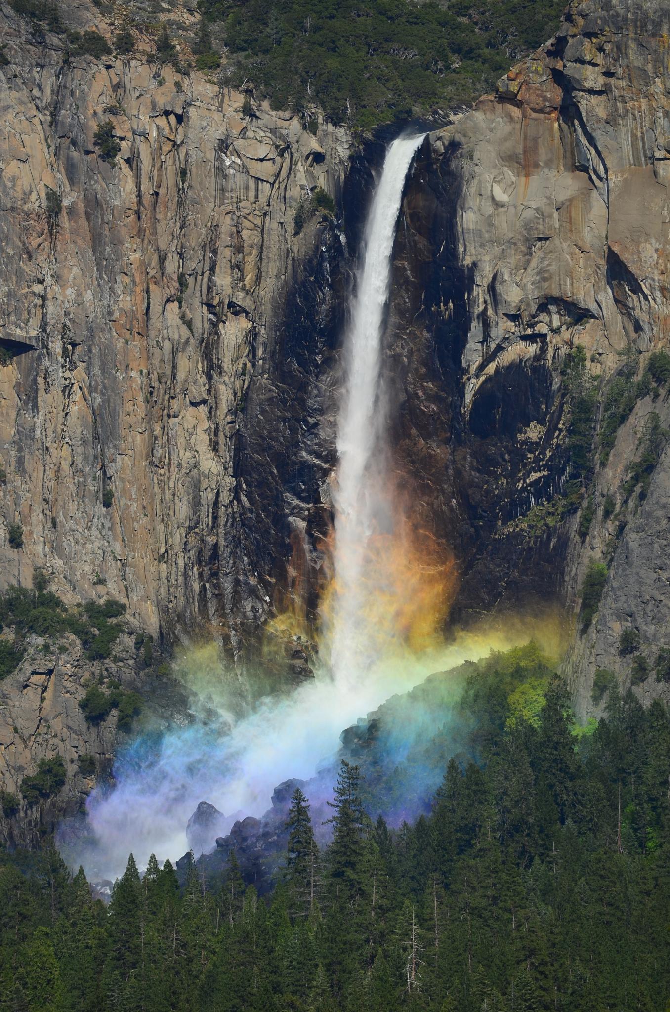 Bridalveil Falls rainbow by Perpetual_Student