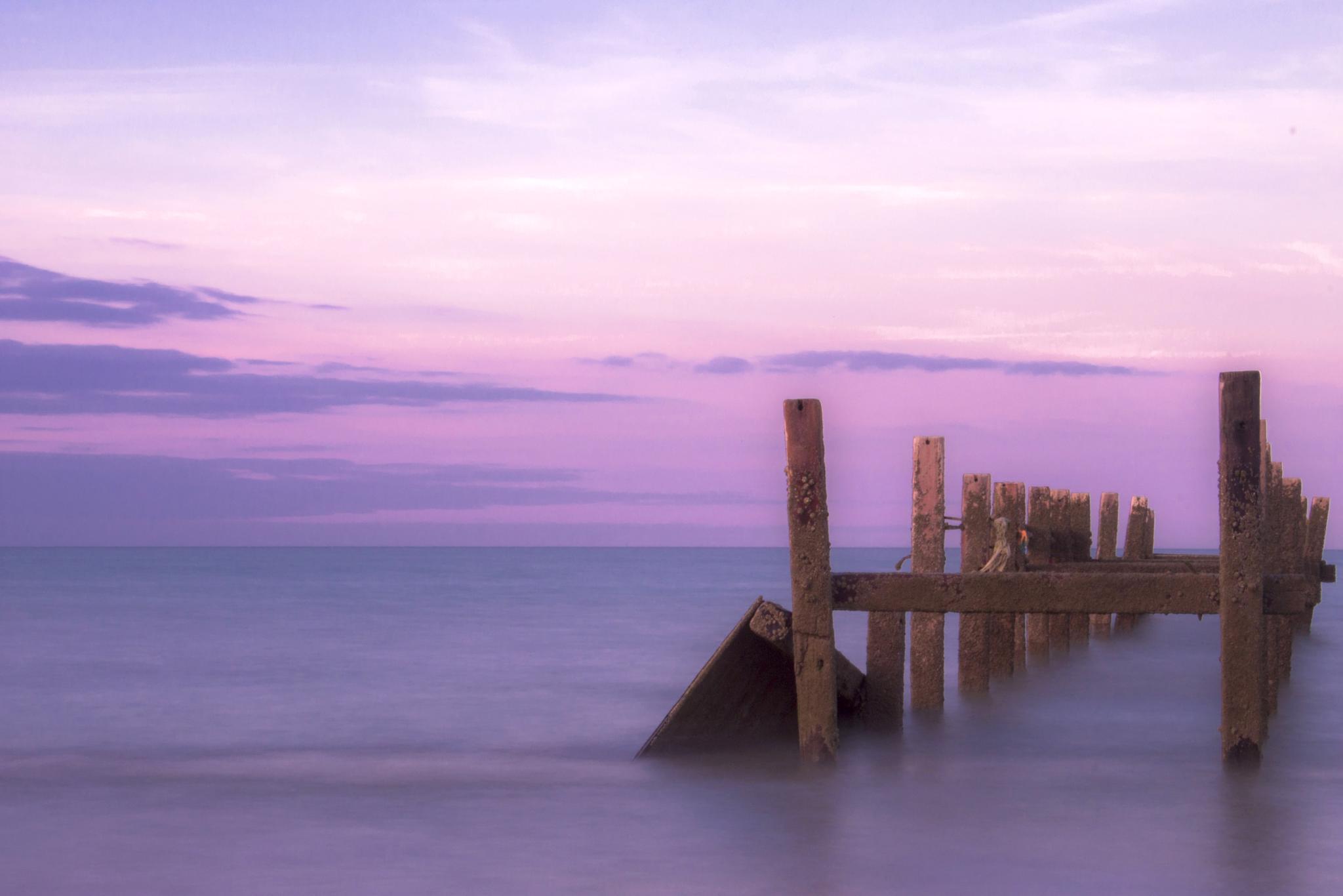 Photo in Landscape #happisburgh #sunset #beach #sea #long exposure #norfolk