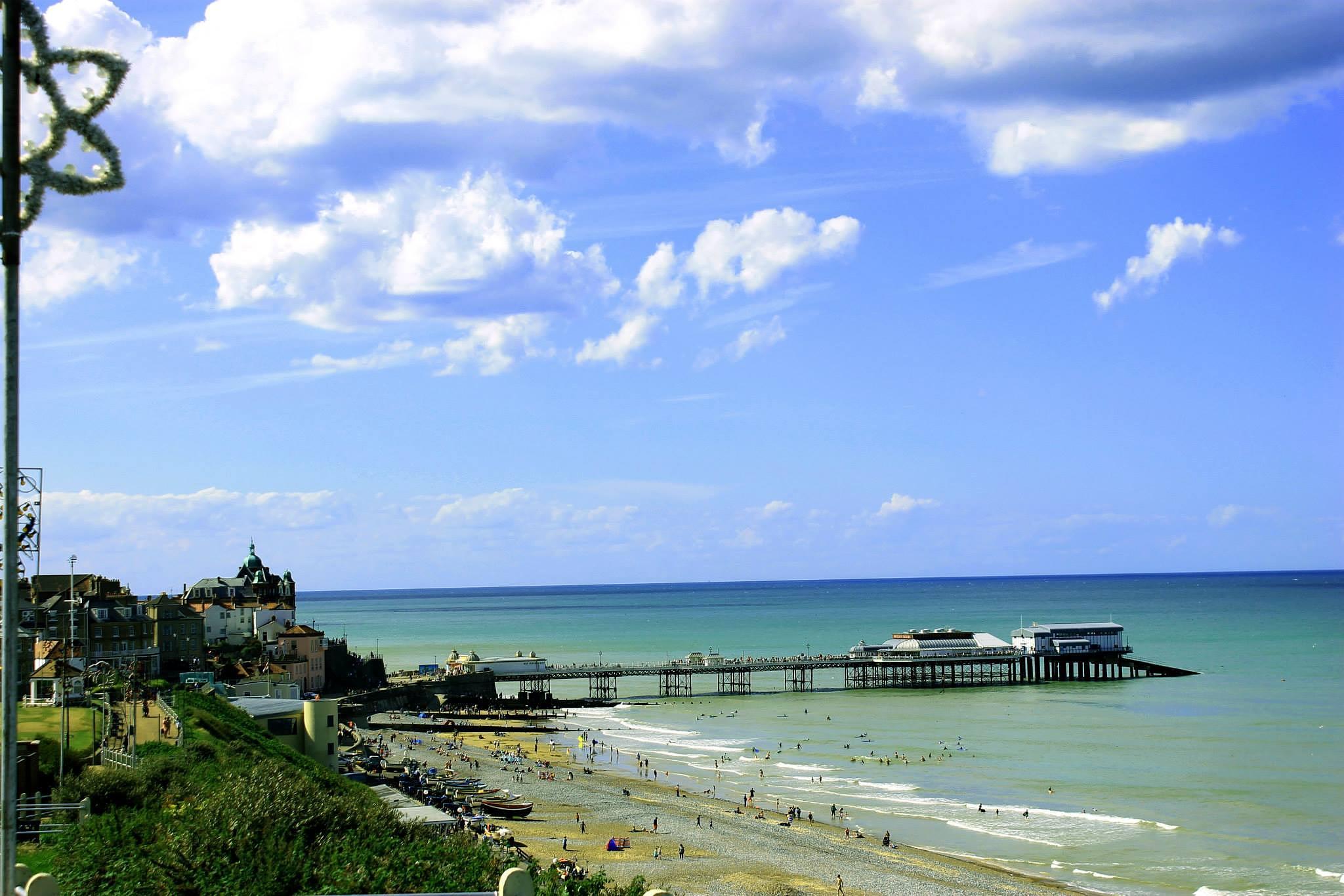 Photo in Landscape #cromer #pier #summer #hot days #sun #beach #vantage point #landscape #architecture #seaside town