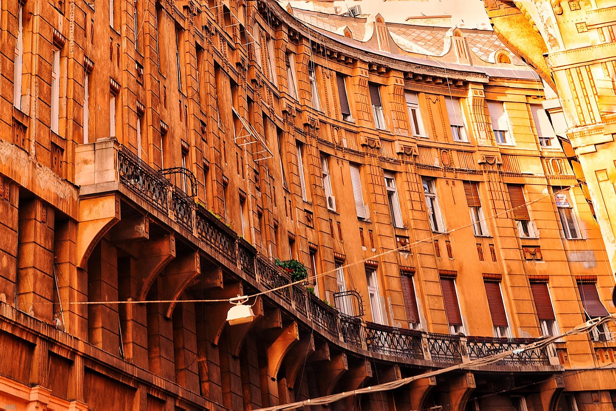 Budapest Deak ter by Mitalier