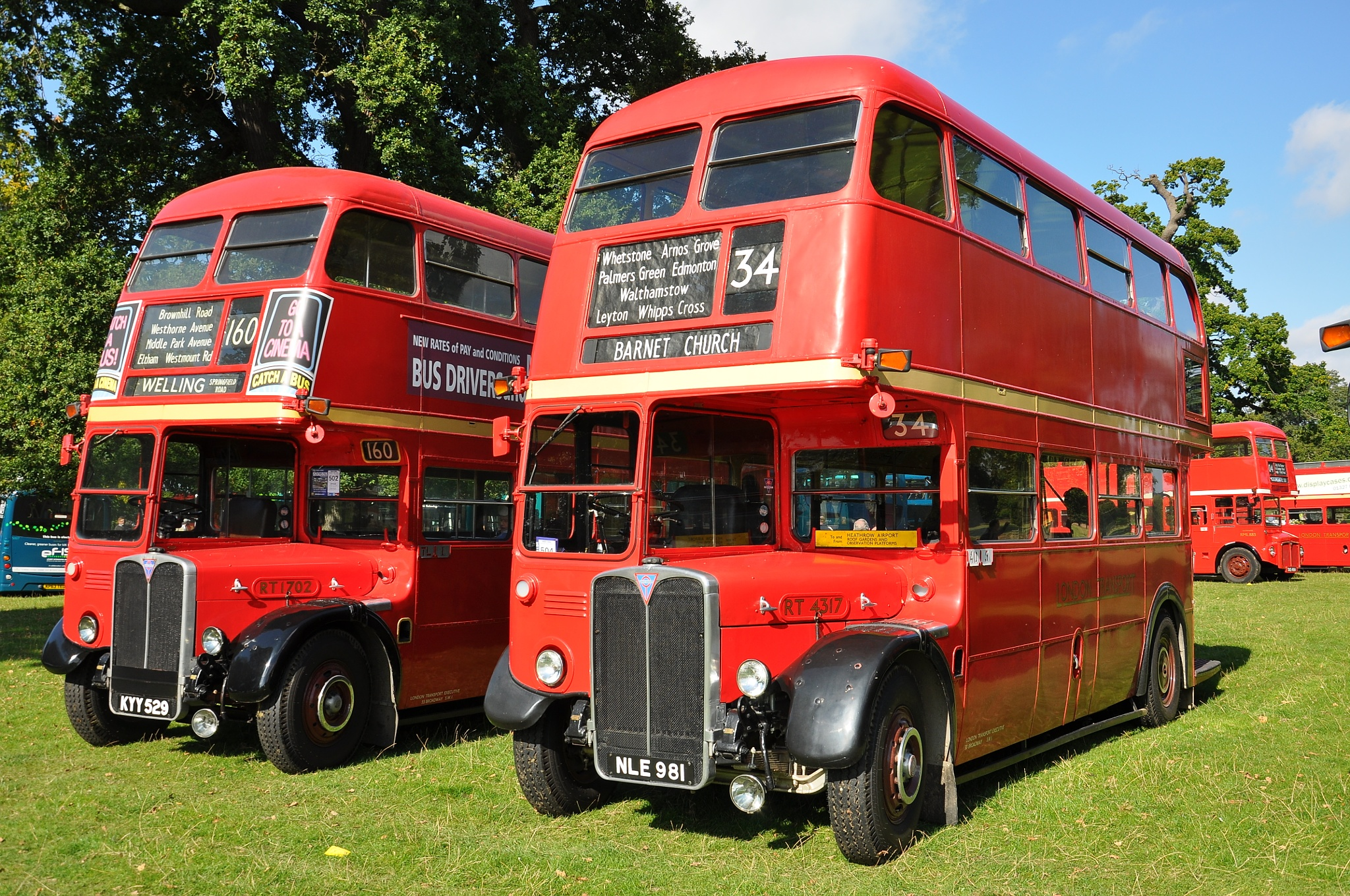 RT 1702 and 4317 at 'Showbus 2015' Woburn Abbey, England by Andy Wright