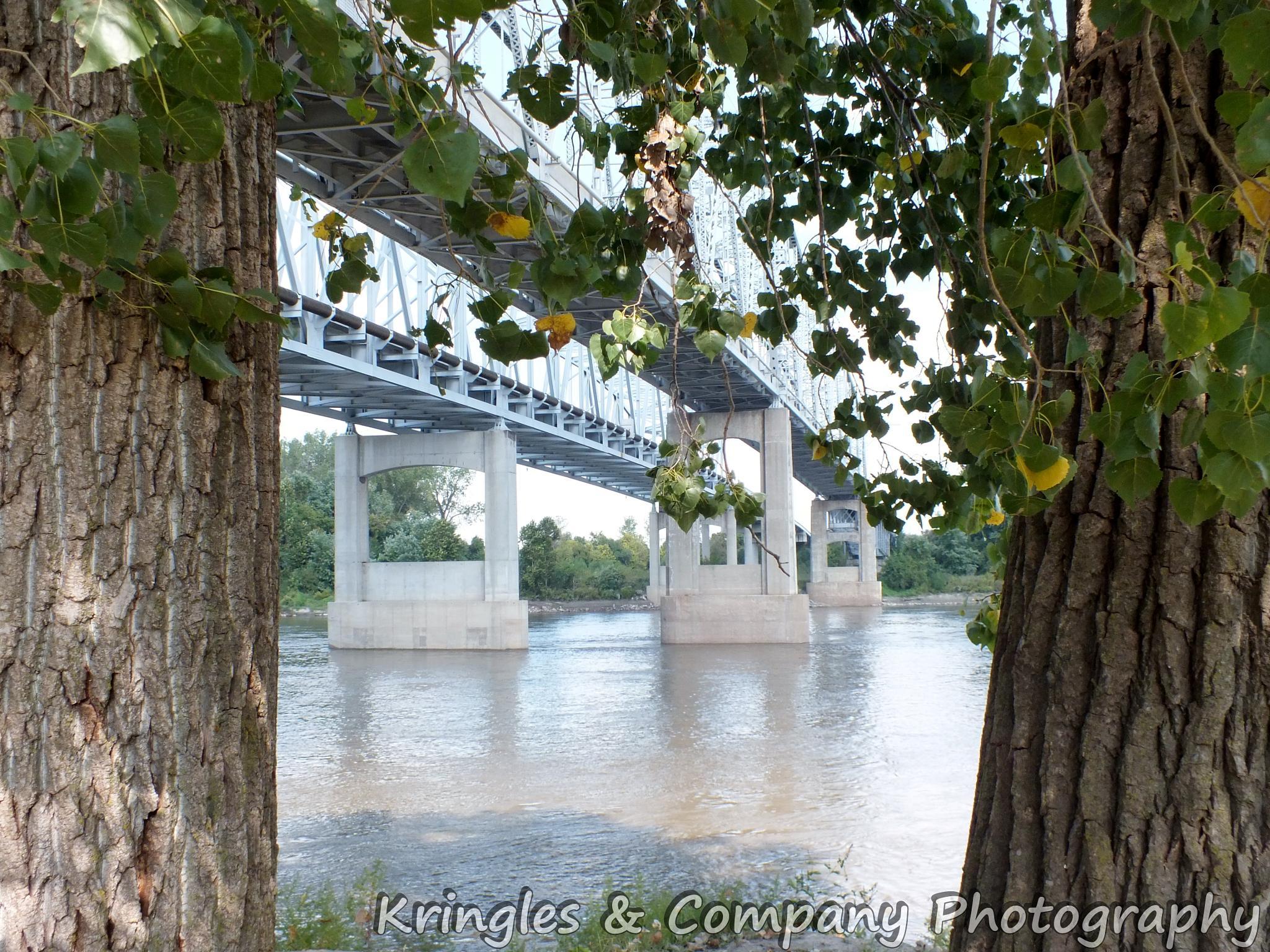 Sugar Creek Bridge over the Missouri River by don.wormsley