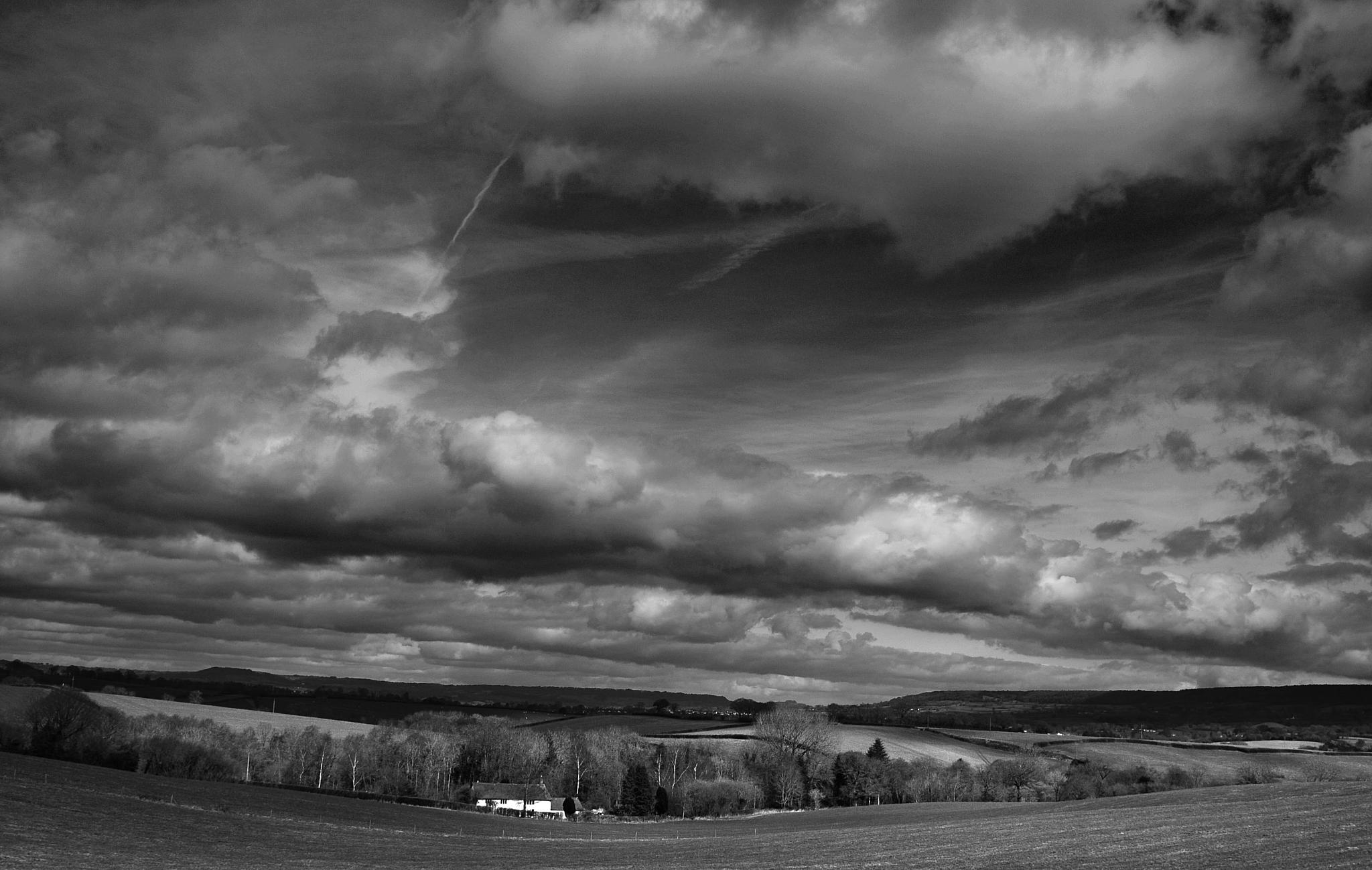 Photo in Black and White #landscape #b/w #sky #skyscape