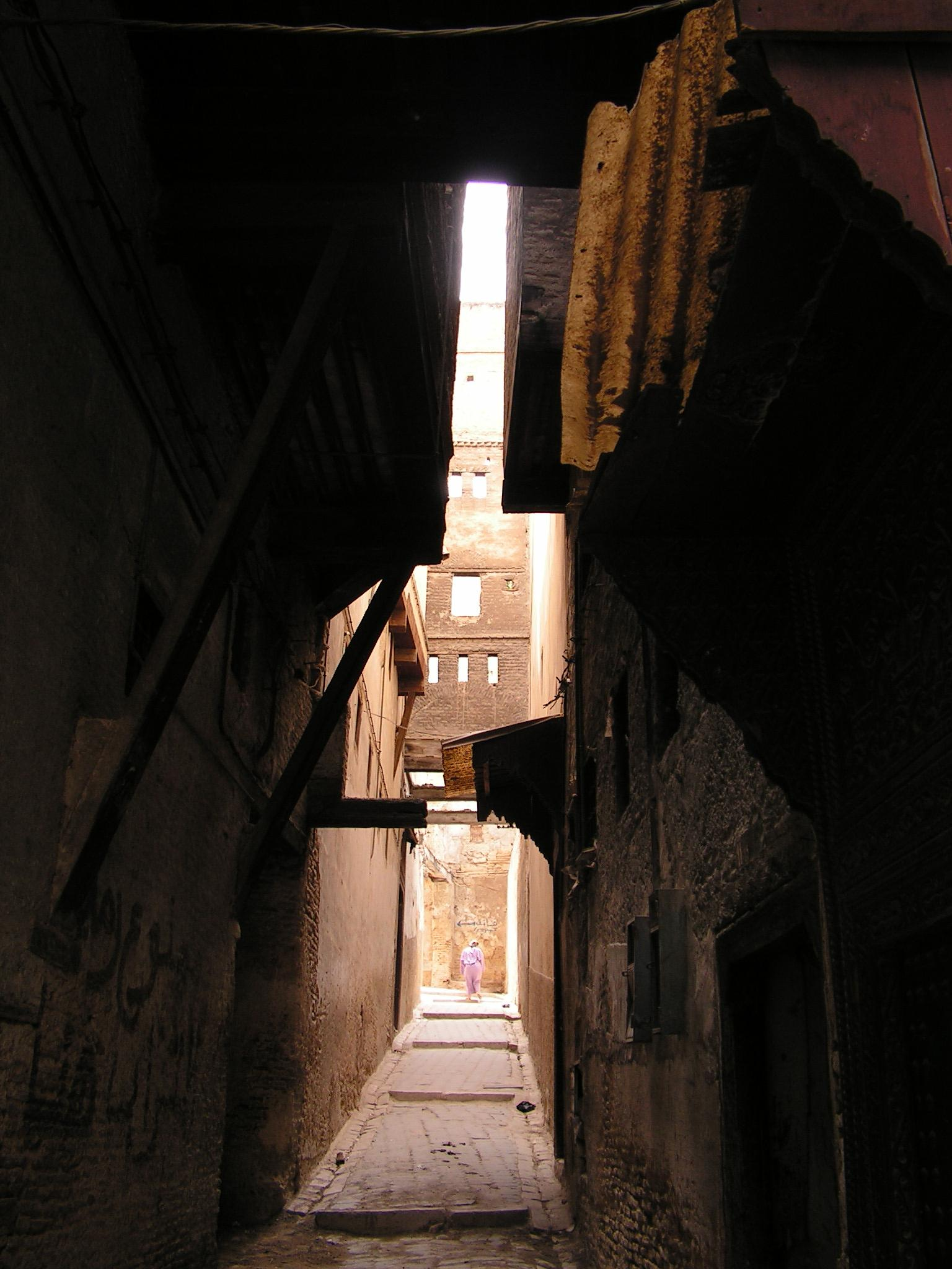 Photo in Travel #back street #medina #shadow #fez #morroco