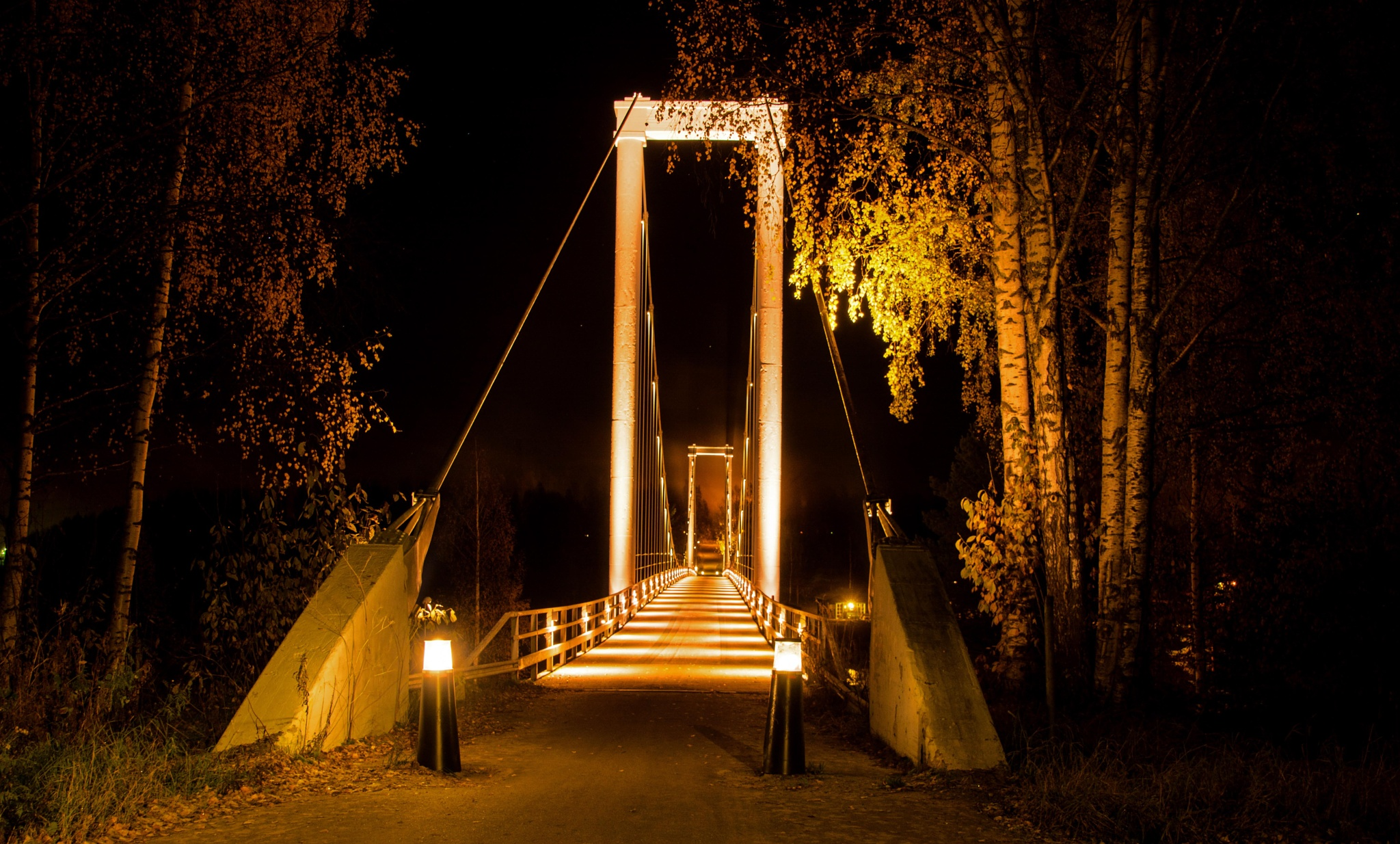 An old bridge over Luleå river by Lennart Walkeby