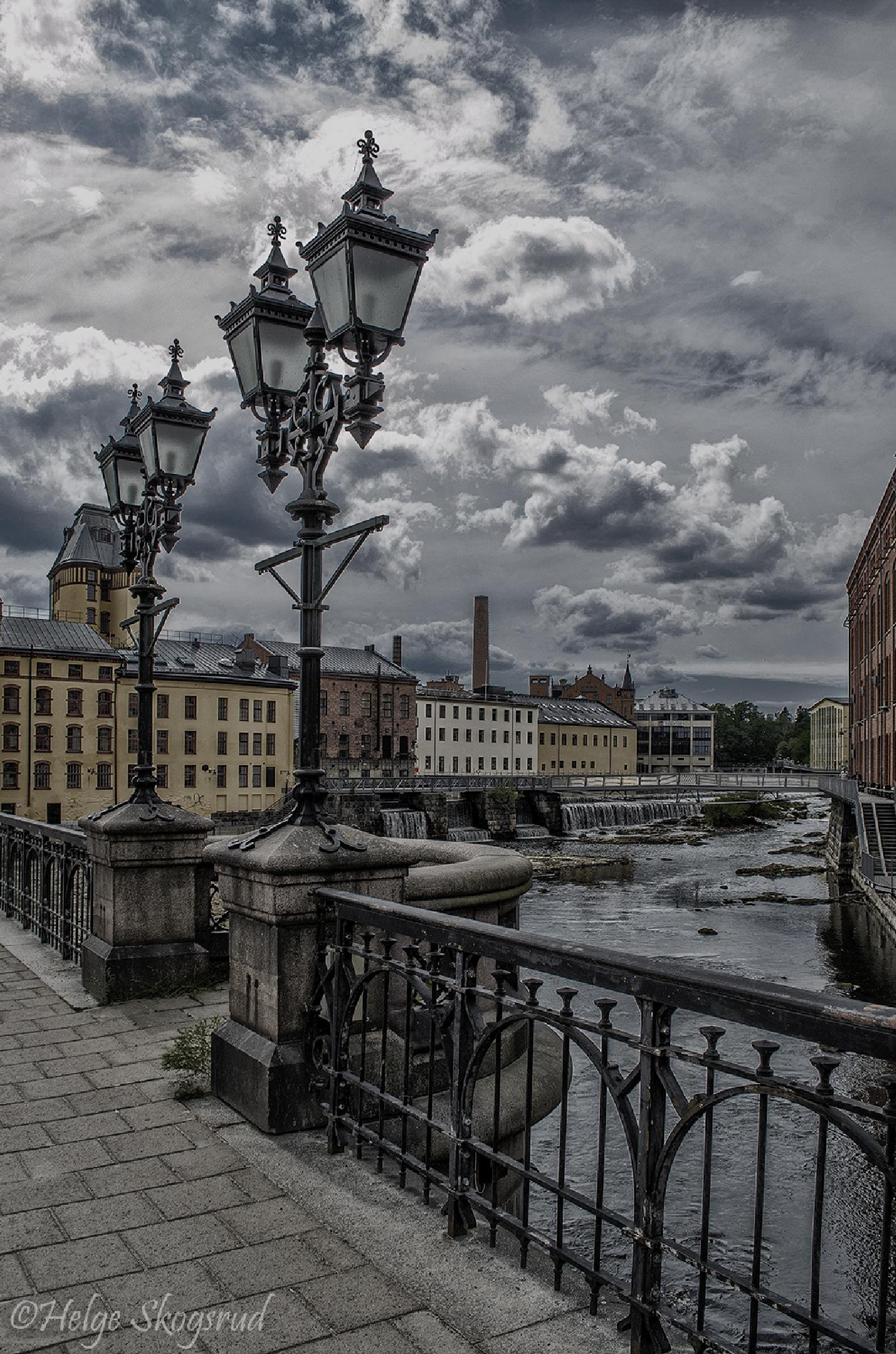 Photo in Street Photography #norrköping #sweden #scandinavia #hdr #old factories #river