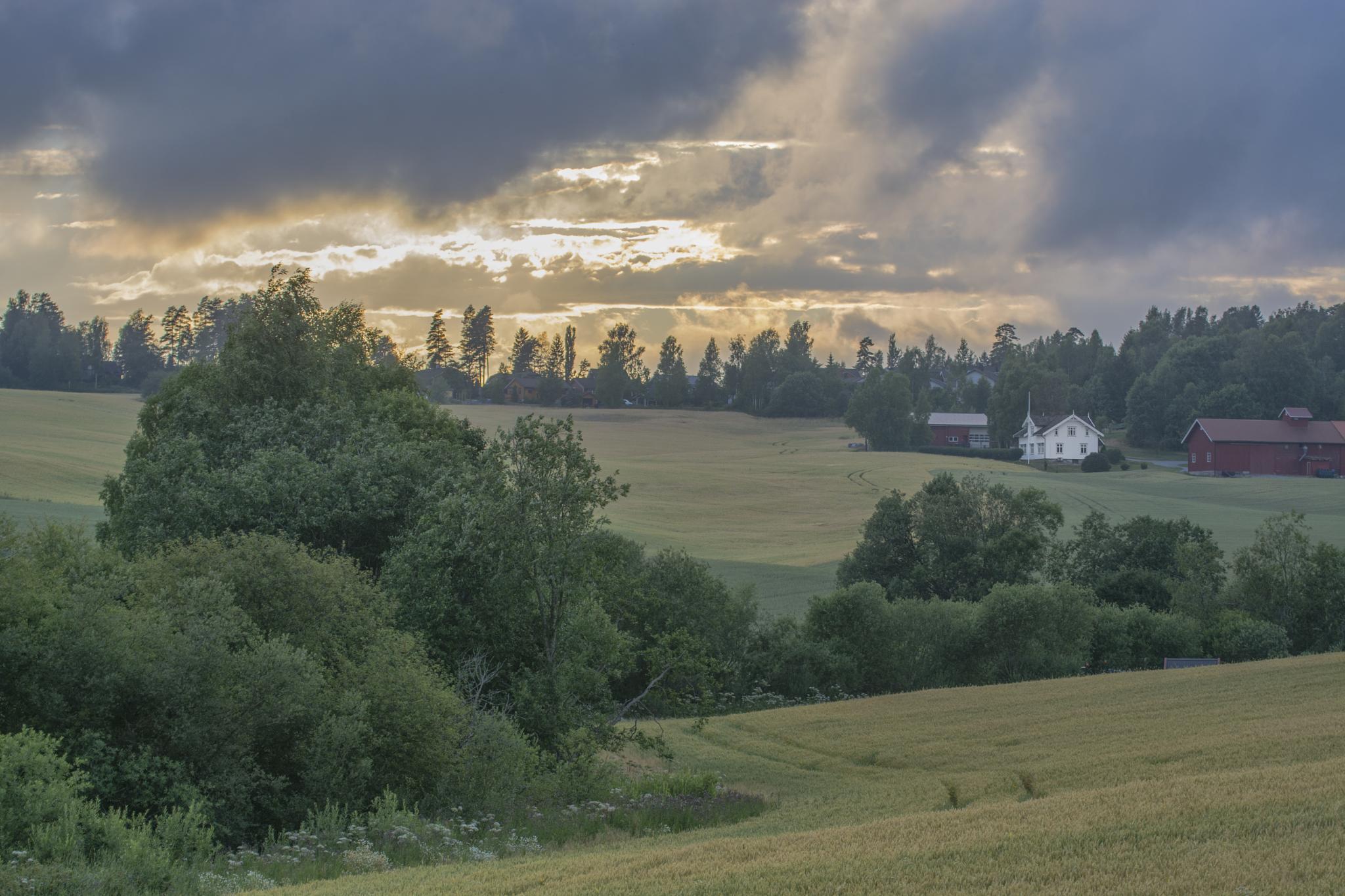 Little farm by Helge Skogsrud
