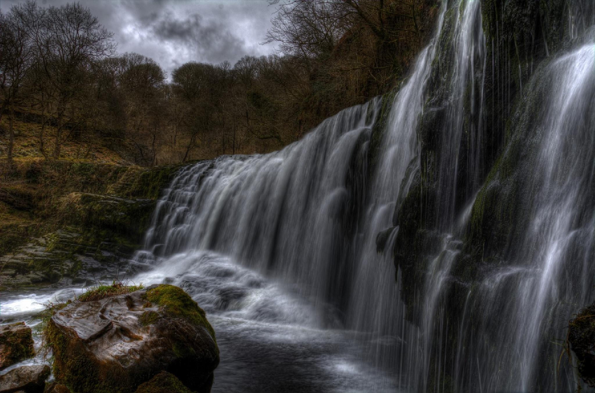 Dull Day Waterfall by mike.lloyd.125