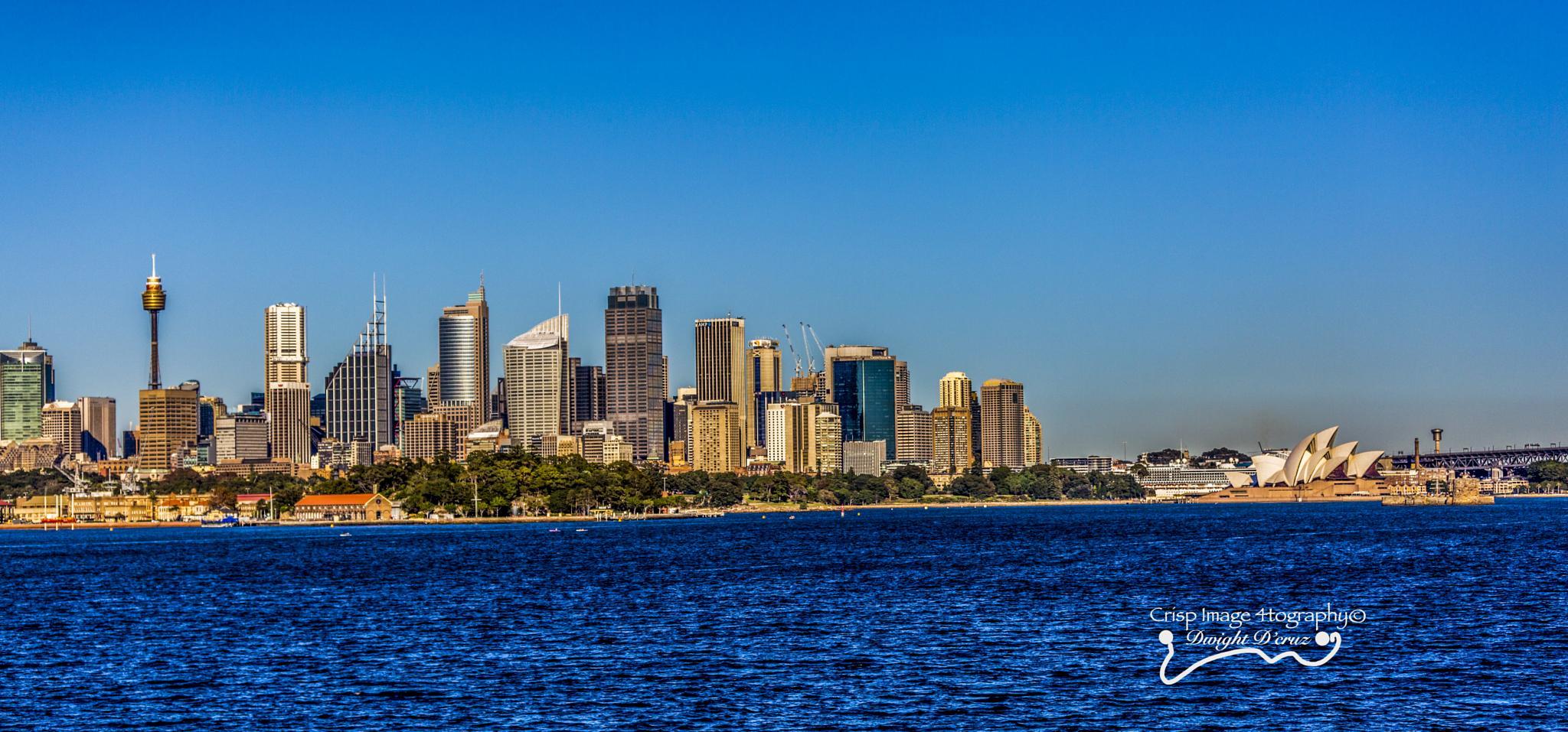 Photo in Cityscape #sydney #harbour #australia #coastal #skyline #building #cityscape #business #travel destination #travel #tourism