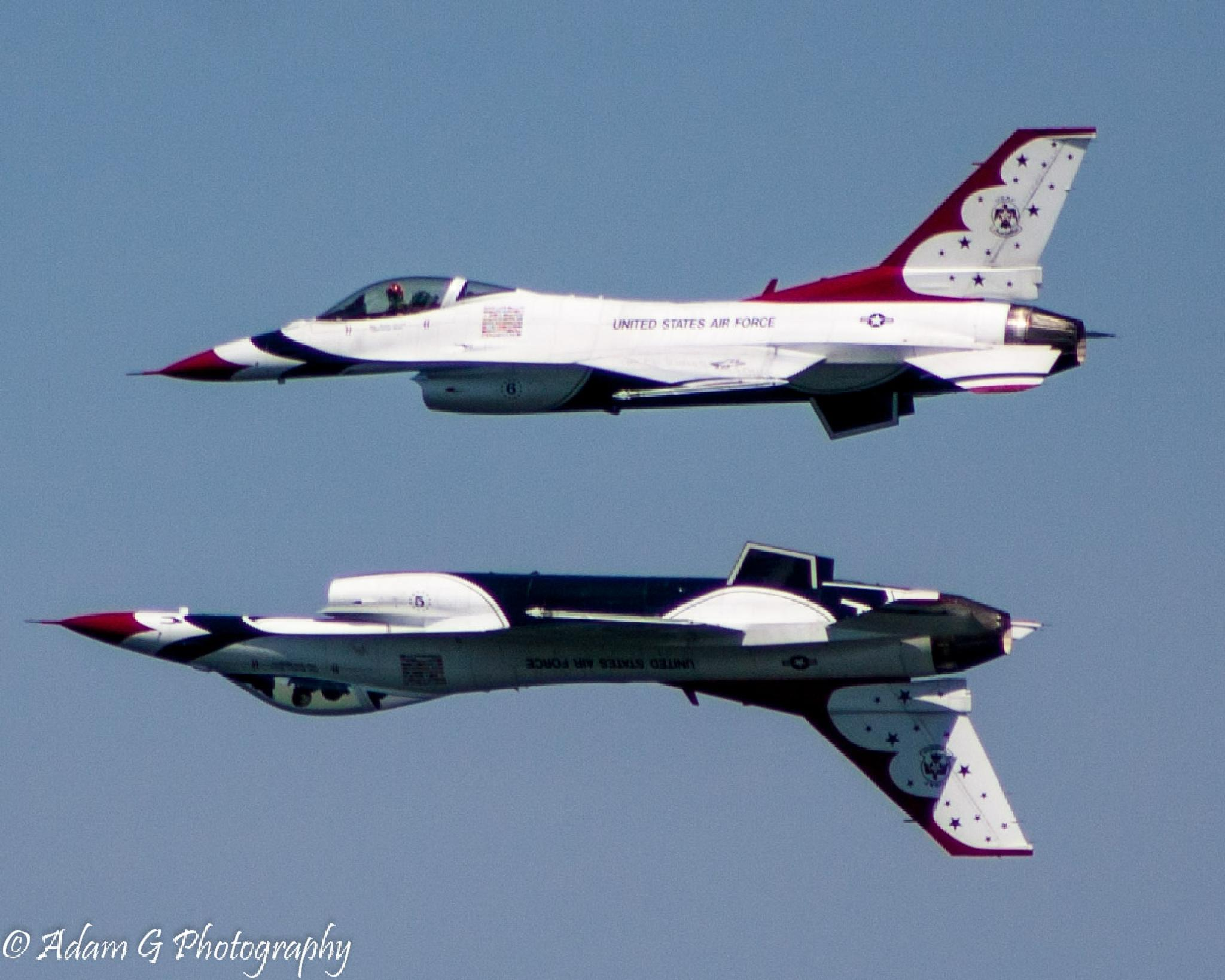 Thunderbirds at Ocean City Air Show.  by AdamGPhoto