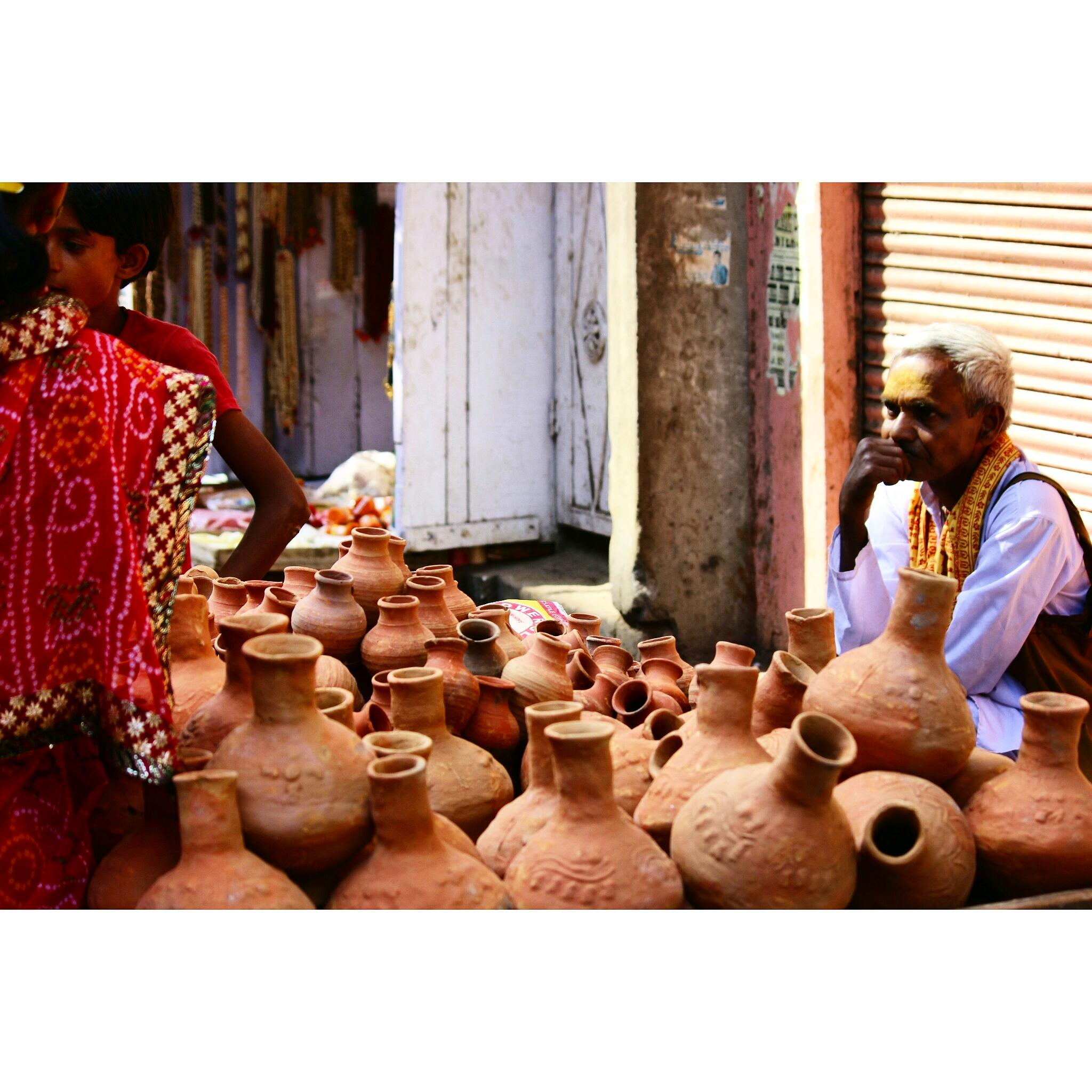 Photo in Rural #mathura potter candid