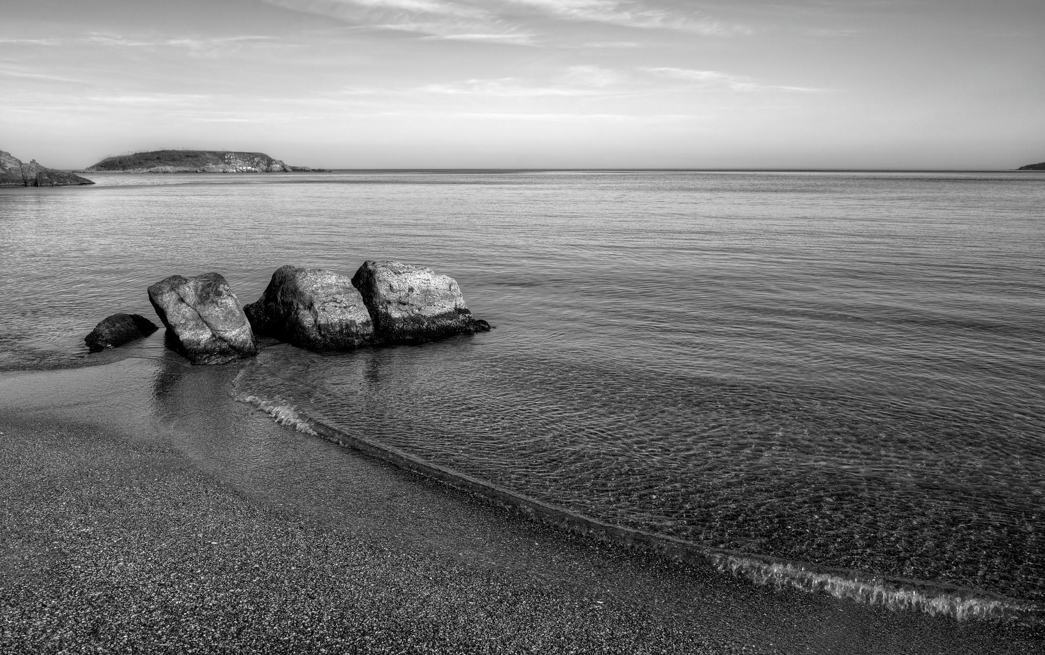 Photo in Black and White #sea