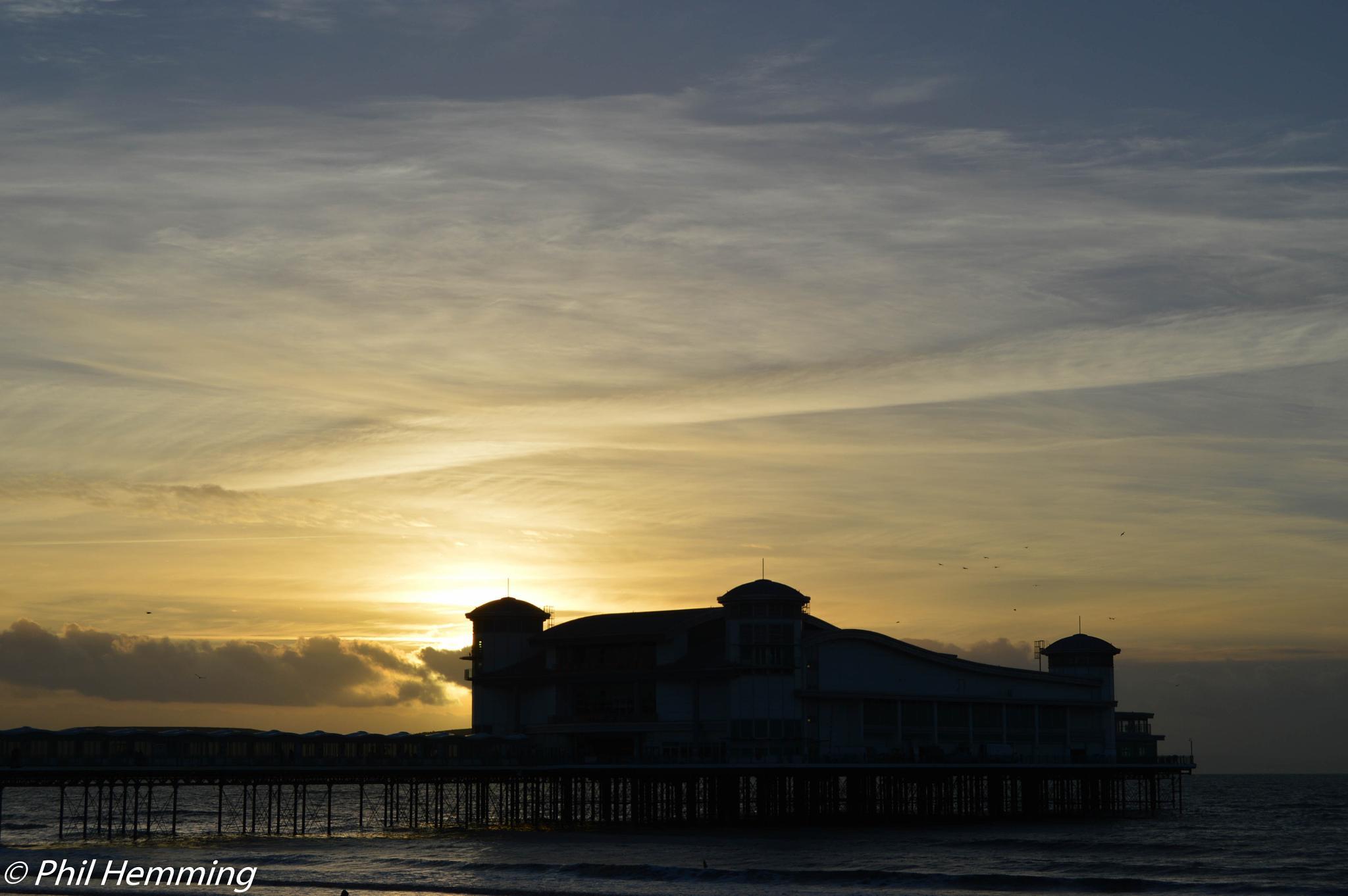 Sunset Silhouetting The Grand Pier WSM by philip.hemming1