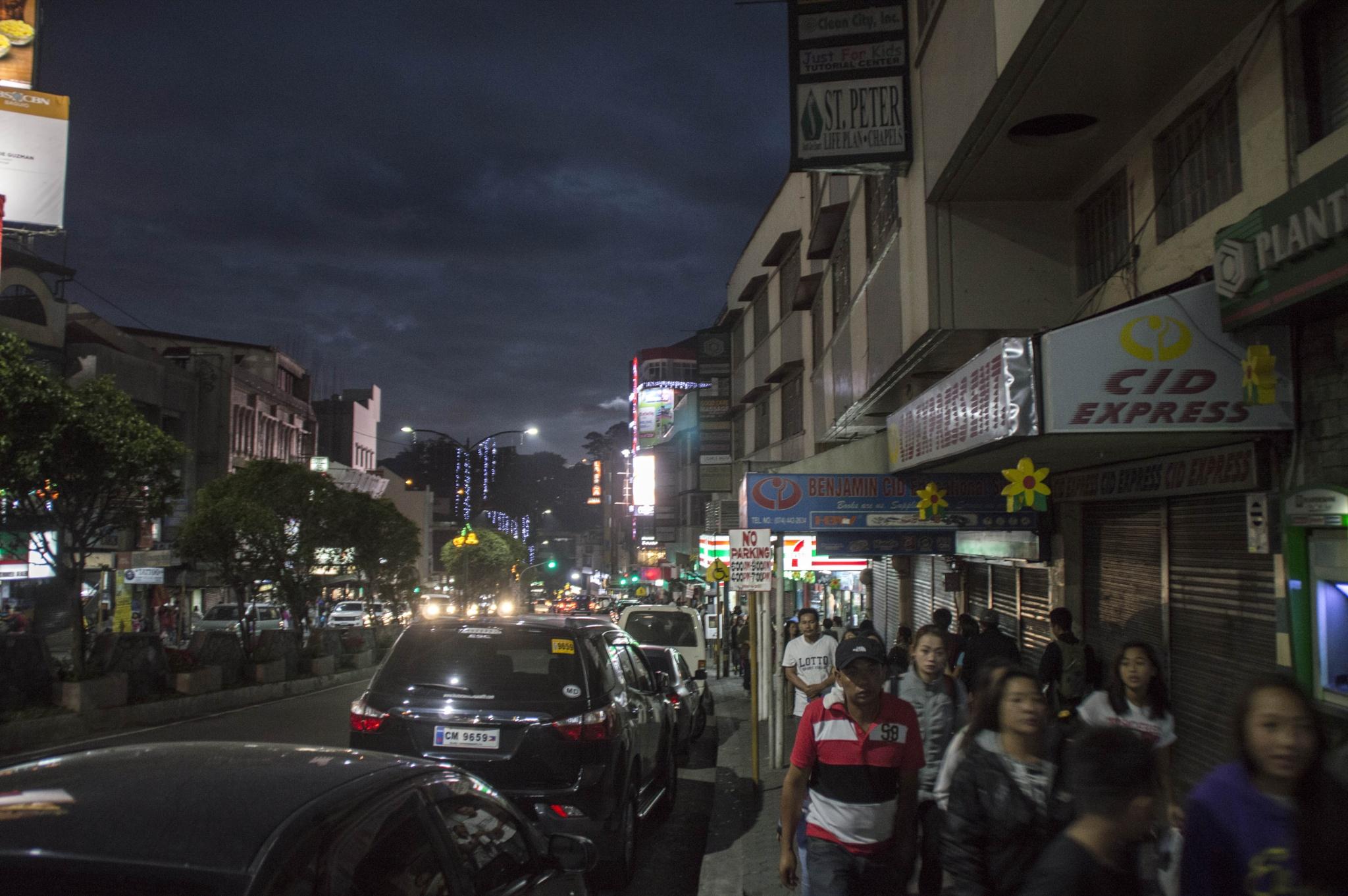 town at night by BearMan