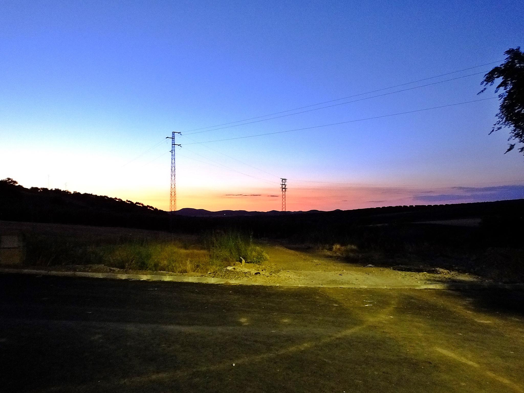 Evening horizon by Peter Rowland